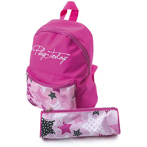 Сумка для девочки PlayTodayАксессуары<br>Характеристики товара:<br><br>• цвет: розовый<br>• состав: 100% полиэстер<br>• ручка<br>• декорирована принтом<br>• водоотталкивающая пропитка <br>• пенал в комплекте<br>• качественный материал<br>• стильный дизайн<br>• эргономичная спинка<br>• уплотненные анатомические лямки<br>• лямки регулируются<br>• комфортная посадка<br>• коллекция: весна-лето 2017<br>• страна бренда: Германия<br>• страна производства: Китай<br><br>Популярный бренд PlayToday выпустил новую коллекцию! Вещи из неё продолжают радовать покупателей удобством, стильным дизайном и продуманным кроем. Дети носят их с удовольствием. PlayToday - это линейка товаров, созданная специально для детей. Дизайнеры учитывают новые веяния моды и потребности детей. Порадуйте ребенка обновкой от проверенного производителя!<br>Этот рюкзак обеспечит ребенку комфорт благодаря качественному материалу и удобному крою. С его помощью можно сделать интересный акцент в образе, дополнить наряд и взять с собой нужные вещи. Очень модная вещь! Выглядит стильно и аккуратно.<br><br>Сумку для девочки от известного бренда PlayToday можно купить в нашем интернет-магазине.<br>Ширина мм: 170; Глубина мм: 157; Высота мм: 67; Вес г: 117; Цвет: белый; Возраст от месяцев: 60; Возраст до месяцев: 144; Пол: Женский; Возраст: Детский; Размер: one size; SKU: 5404752;