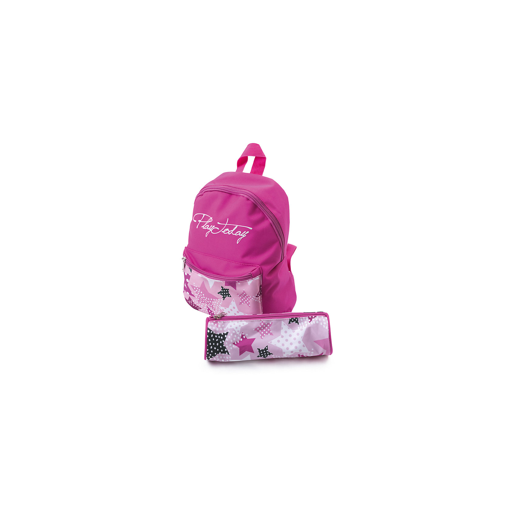 Сумка для девочки PlayTodayАксессуары<br>Характеристики товара:<br><br>• цвет: розовый<br>• состав: 100% полиэстер<br>• ручка<br>• декорирована принтом<br>• водоотталкивающая пропитка <br>• пенал в комплекте<br>• качественный материал<br>• стильный дизайн<br>• эргономичная спинка<br>• уплотненные анатомические лямки<br>• лямки регулируются<br>• комфортная посадка<br>• коллекция: весна-лето 2017<br>• страна бренда: Германия<br>• страна производства: Китай<br><br>Популярный бренд PlayToday выпустил новую коллекцию! Вещи из неё продолжают радовать покупателей удобством, стильным дизайном и продуманным кроем. Дети носят их с удовольствием. PlayToday - это линейка товаров, созданная специально для детей. Дизайнеры учитывают новые веяния моды и потребности детей. Порадуйте ребенка обновкой от проверенного производителя!<br>Этот рюкзак обеспечит ребенку комфорт благодаря качественному материалу и удобному крою. С его помощью можно сделать интересный акцент в образе, дополнить наряд и взять с собой нужные вещи. Очень модная вещь! Выглядит стильно и аккуратно.<br><br>Сумку для девочки от известного бренда PlayToday можно купить в нашем интернет-магазине.<br><br>Ширина мм: 170<br>Глубина мм: 157<br>Высота мм: 67<br>Вес г: 117<br>Цвет: белый<br>Возраст от месяцев: 60<br>Возраст до месяцев: 144<br>Пол: Женский<br>Возраст: Детский<br>Размер: one size<br>SKU: 5404752