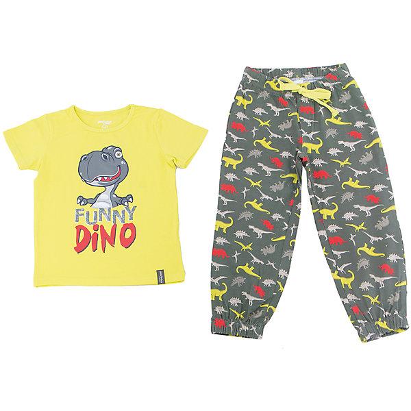 Комплект для мальчика PlayTodayКомплекты<br>Характеристики товара:<br><br>• цвет: разноцветный<br>• состав: 95% хлопок, 5% эластан<br>• комплектация: футболка и брюки<br>• дышащий материал<br>• короткие рукава<br>• принт<br>• в поясе брюк шнурок<br>• комфортная посадка<br>• коллекция: весна-лето 2017<br>• страна бренда: Германия<br>• страна производства: Китай<br><br>Популярный бренд PlayToday выпустил новую коллекцию! Вещи из неё продолжают радовать покупателей удобством, стильным дизайном и продуманным кроем. Дети носят их с удовольствием. PlayToday - это линейка товаров, созданная специально для детей. Дизайнеры учитывают новые веяния моды и потребности детей. Порадуйте ребенка обновкой от проверенного производителя!<br>Эта модель обеспечит ребенку комфорт благодаря качественному материалу и удобному крою. Отличный вариант домашней одежды - она не трет и давит, не ограничивает свободу движений! Выглядит стильно и аккуратно.<br><br>Комплект для мальчика от известного бренда PlayToday можно купить в нашем интернет-магазине.<br>Ширина мм: 199; Глубина мм: 10; Высота мм: 161; Вес г: 151; Цвет: белый; Возраст от месяцев: 84; Возраст до месяцев: 96; Пол: Мужской; Возраст: Детский; Размер: 128,98,122,116,110,104; SKU: 5404756;