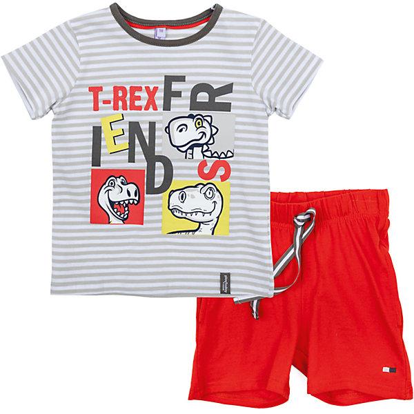 Комплект для мальчика PlayTodayКомплекты<br>Характеристики товара:<br><br>• цвет: разноцветный<br>• состав: 95% хлопок, 5% эластан<br>• комплектация: футболка и шорты<br>• дышащий материал<br>• короткие рукава<br>• принт<br>• пояс - мягкая резинка<br>• комфортная посадка<br>• коллекция: весна-лето 2017<br>• страна бренда: Германия<br>• страна производства: Китай<br><br>Популярный бренд PlayToday выпустил новую коллекцию! Вещи из неё продолжают радовать покупателей удобством, стильным дизайном и продуманным кроем. Дети носят их с удовольствием. PlayToday - это линейка товаров, созданная специально для детей. Дизайнеры учитывают новые веяния моды и потребности детей. Порадуйте ребенка обновкой от проверенного производителя!<br>Эта модель обеспечит ребенку комфорт благодаря качественному материалу и удобному крою. Отличный вариант домашней одежды - она не трет и давит, не ограничивает свободу движений! Выглядит стильно и аккуратно.<br><br>Комплект для мальчика от известного бренда PlayToday можно купить в нашем интернет-магазине.<br><br>Ширина мм: 199<br>Глубина мм: 10<br>Высота мм: 161<br>Вес г: 151<br>Цвет: белый<br>Возраст от месяцев: 48<br>Возраст до месяцев: 60<br>Пол: Мужской<br>Возраст: Детский<br>Размер: 110,104,98,128,122,116<br>SKU: 5404777