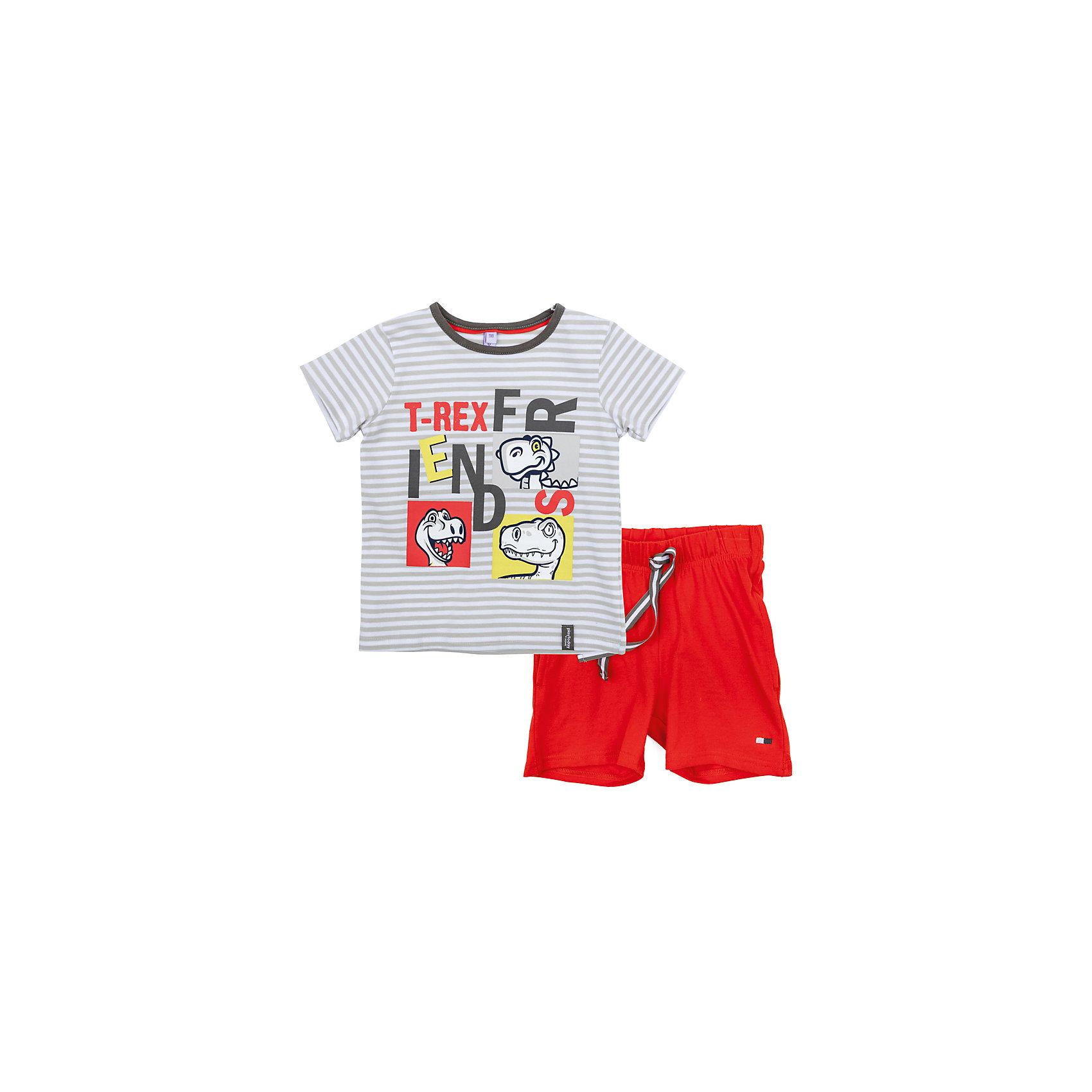 Комплект для мальчика PlayTodayКомплекты<br>Комплект для мальчика PlayToday<br>Комплект из майки и шорт прекрасно подойдет для домашнего использования. Может быть и домашней одеждой, и уютной пижамой. Мягкий, приятный к телу, материал не сковывает движений. Шорты на мягкой удобной резинке, с регулируемым на поясе шнуром - кулиской. Яркий принт является достойным украшением данного изделия.Преимущества: Свободный классический крой не сковывает движения ребенкаМожет быть удобной домашней одеждой и уютной пижамой.Яркий стильный принт<br>Состав:<br>95% хлопок, 5% эластан<br><br>Ширина мм: 199<br>Глубина мм: 10<br>Высота мм: 161<br>Вес г: 151<br>Цвет: разноцветный<br>Возраст от месяцев: 84<br>Возраст до месяцев: 96<br>Пол: Мужской<br>Возраст: Детский<br>Размер: 128,98,104,110,116,122<br>SKU: 5404777