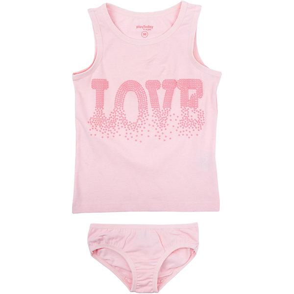 Купить Комплект для девочки PlayToday, Китай, светло-розовый, 128, 104, 98, 122, 116, 110, Женский