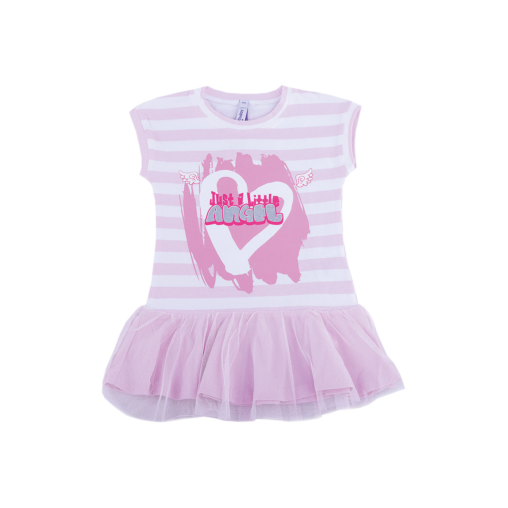 Платье для девочки PlayTodayПлатья и сарафаны<br>Платье для девочки PlayToday<br>Платье с округлым вырезом у горловины, понравится Вашей моднице.  Свободный крой не сковывает движений. Приятная на ощупь ткань не раздражает нежную кожу ребенка. Модель с заниженной юбкой, декорирована ярким принтомПреимущества: Мягкая ткань не вызывает раздраженийСвободный крой не сковывает движений ребенкаМодель с заниженной юбкой<br>Состав:<br>95% хлопок, 5% эластан<br><br>Ширина мм: 236<br>Глубина мм: 16<br>Высота мм: 184<br>Вес г: 177<br>Цвет: разноцветный<br>Возраст от месяцев: 108<br>Возраст до месяцев: 120<br>Пол: Женский<br>Возраст: Детский<br>Размер: 140,98,104,110,116,122,128,134<br>SKU: 5404875