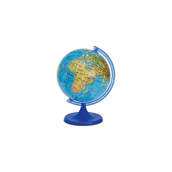 Глобус 32см, Физический + Мини-энциклопедия Физическая география ЗемлиГлобусы<br>Эта модель глобуса весьма распространена и существует для того, чтобы познакомить Вас или Вашего ребенка со структурой планеты, на которой мы живем. Глобус дает четкое представление не только о месторасположении материков и океанов, но и о строении поверхности Земли.<br>На глобус нанесены рельеф суши и морского дна, элементы почвенно-растительного покрова, крупнейшие населенные пункты, коралловые рифы, теплые и холодные течения, а так же зимняя граница плавающих льдов.<br>Во время изучения географии в школе Физический глобус станет просто незаменимым другом Вашего ребенка.<br>Глобусы диаметром 25 и 32 комплектуются мини-энциклопедиями, которые содержат справочную информацию о планете на которой мы живем.<br>Ширина мм: 325; Глубина мм: 325; Высота мм: 330; Вес г: 1600; Возраст от месяцев: 72; Возраст до месяцев: 168; Пол: Унисекс; Возраст: Детский; SKU: 5405058;