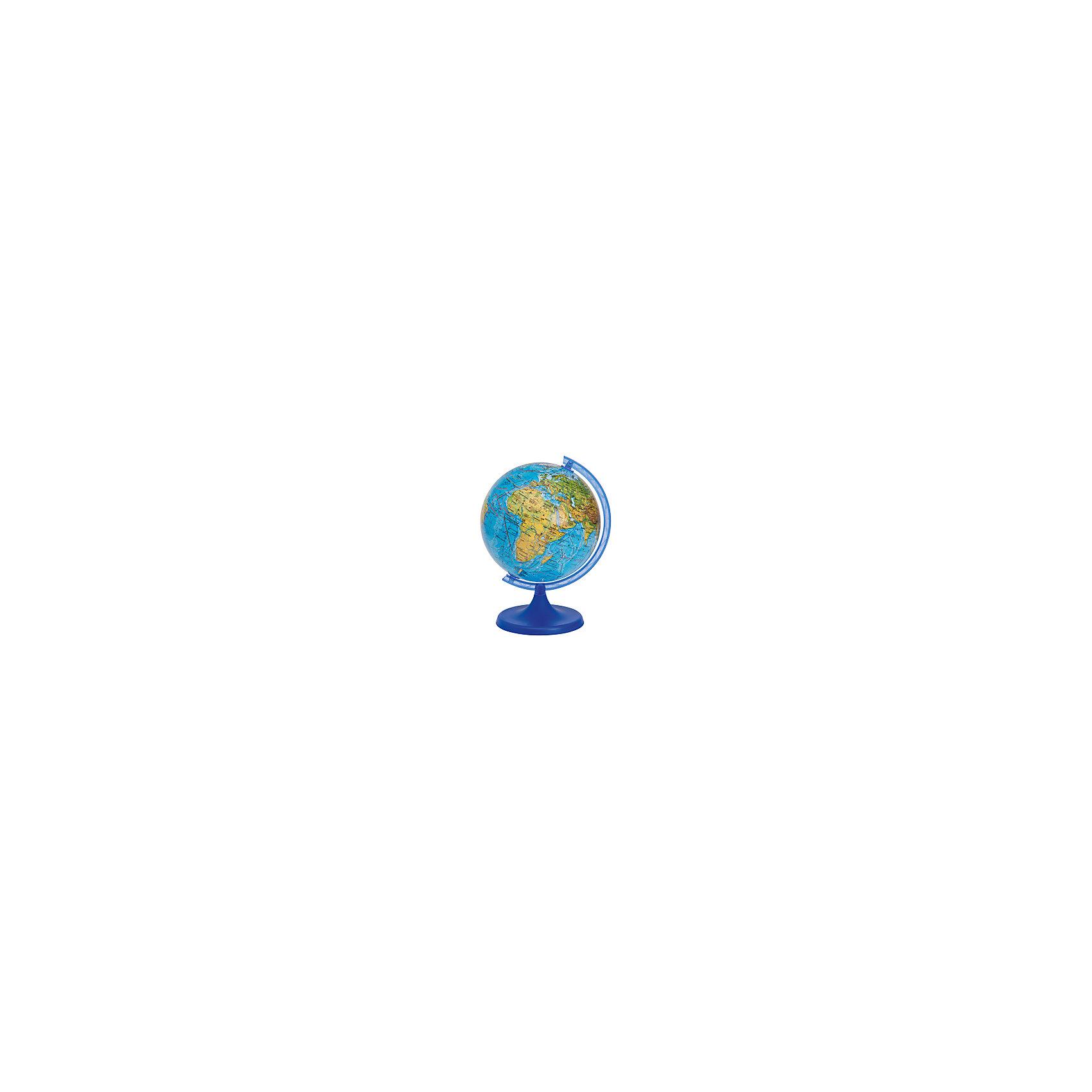 Глобус 32см, Физический + Мини-энциклопедия Физическая география ЗемлиГлобусы<br>Эта модель глобуса весьма распространена и существует для того, чтобы познакомить Вас или Вашего ребенка со структурой планеты, на которой мы живем. Глобус дает четкое представление не только о месторасположении материков и океанов, но и о строении поверхности Земли.<br>На глобус нанесены рельеф суши и морского дна, элементы почвенно-растительного покрова, крупнейшие населенные пункты, коралловые рифы, теплые и холодные течения, а так же зимняя граница плавающих льдов.<br>Во время изучения географии в школе Физический глобус станет просто незаменимым другом Вашего ребенка.<br>Глобусы диаметром 25 и 32 комплектуются мини-энциклопедиями, которые содержат справочную информацию о планете на которой мы живем.<br><br>Ширина мм: 325<br>Глубина мм: 325<br>Высота мм: 330<br>Вес г: 1600<br>Возраст от месяцев: 72<br>Возраст до месяцев: 168<br>Пол: Унисекс<br>Возраст: Детский<br>SKU: 5405058