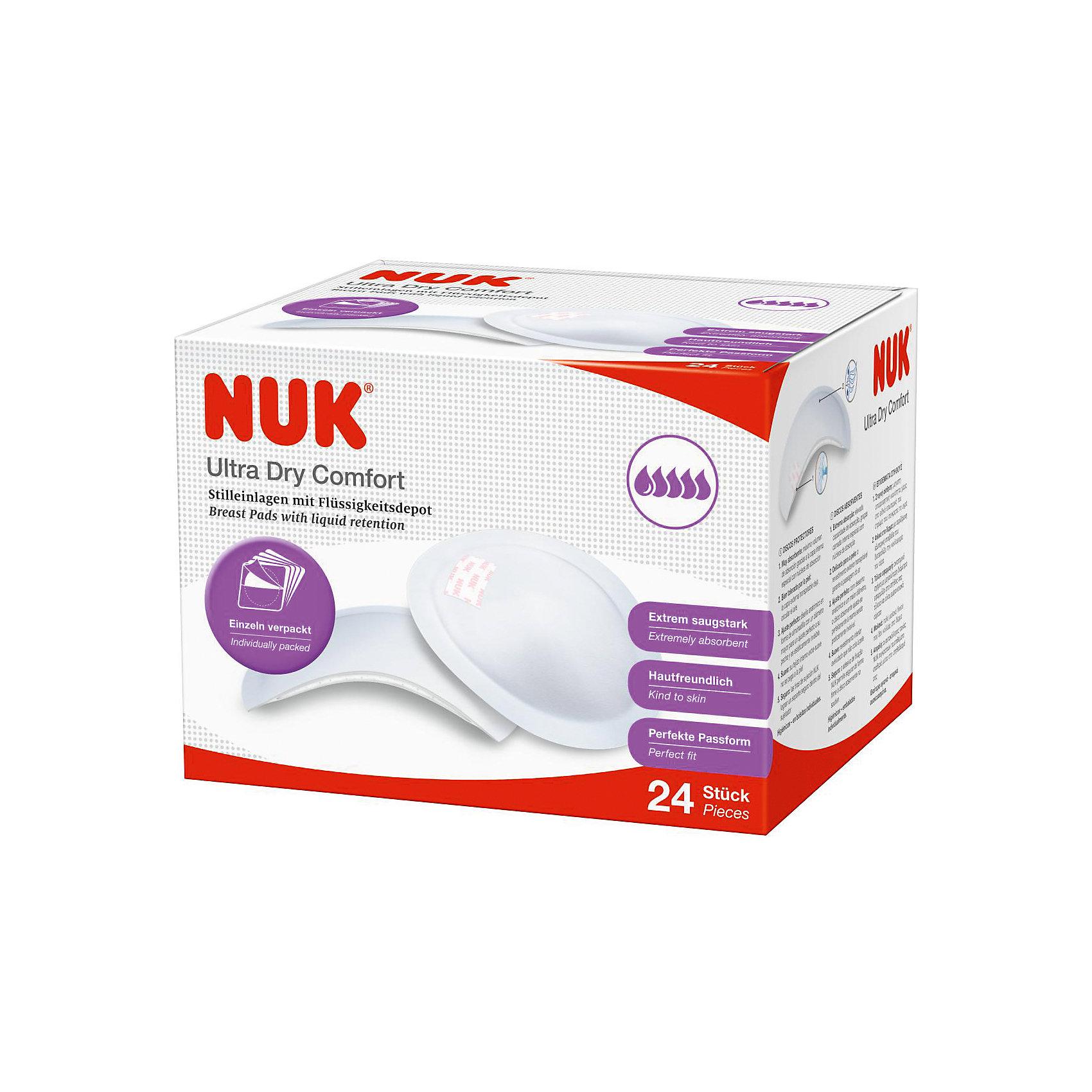 Прокладки для груди кормящих матерей Ulra Dry Comfort 60 шт., NUKНакладки на грудь<br>Прокладки для груди кормящих матерей Ulra Dry Comfort 60 шт., NUK<br><br>Характеристики:<br><br>• В набор входит: 60 прокладок<br>• Состав: нетканый материал<br>• Особенности: персональная упаковка, клейкая полоска<br>• Для мам<br>• Страна производитель: Германия<br><br>Практичная упаковка прокладок для груди от немецкой компании, специализирующейся на производстве качественных товаров для детей и мам NUK (Нук). Небольшая клеевая полоска удерживает прокладку от движения и перемещения, мягкий материал приятен для кожи и отлично впитывает влагу, удерживая ее. Дышащий слой обеспечит необходимую проходимость воздуха, оберегая кожу от воспаления, внутренний слой не прилипает к коже. <br><br>Анатомическая форма каждой прокладки обеспечивает максимальный комфорт кормящей маме. Практична коробка оснащена клеевой полосой, которая позволяет закрывать её и открывать снова. Ощутите бережную заботу с прокладками для груди от NUK (Нук)!<br><br>Прокладки для груди кормящих матерей Ulra Dry Comfort 60 шт., NUK можно купить в нашем интернет-магазине.<br><br>Ширина мм: 130<br>Глубина мм: 100<br>Высота мм: 225<br>Вес г: 450<br>Возраст от месяцев: 216<br>Возраст до месяцев: 2147483647<br>Пол: Женский<br>Возраст: Детский<br>SKU: 5405118