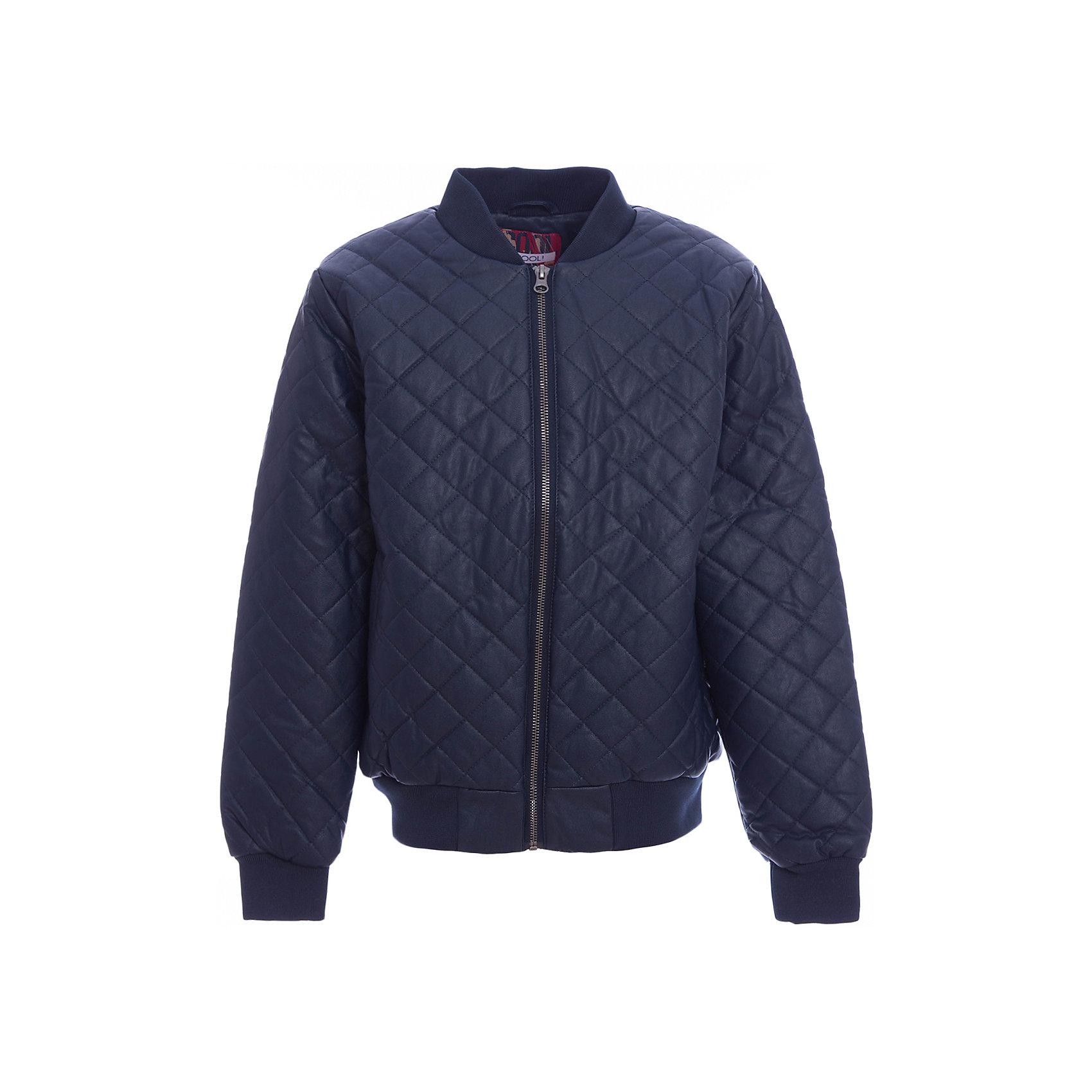 Куртка для мальчика ScoolДжинсовый бум<br>Куртка для мальчика Scool<br>Практичная стильная стеганая куртка со специальной водоотталкивающей пропиткой  - прекрасное решение для прохладной погоды. Мягкие трикотажные резинки на рукавах защитят Вашего ребенка - ветер не сможет проникнуть под куртку.  Светоотражатель по низу изделия позволит видеть Вашего ребенка в темное время сутокПреимущества: Водоооталкивающая пропиткаСветооражатель<br>Состав:<br>Верх: 40% полиуретан, 60% вискоза, подкладка: 100% полиэстер, наполнитель - 100% полиэстер, 120 г/м2<br><br>Ширина мм: 356<br>Глубина мм: 10<br>Высота мм: 245<br>Вес г: 519<br>Цвет: полуночно-синий<br>Возраст от месяцев: 96<br>Возраст до месяцев: 108<br>Пол: Мужской<br>Возраст: Детский<br>Размер: 134,164,158,152,146,140<br>SKU: 5406515