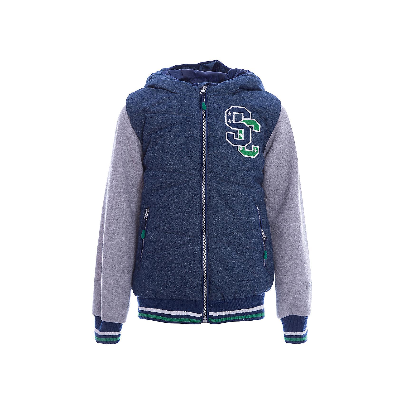 Куртка для мальчика ScoolВерхняя одежда<br>Характеристики товара:<br><br>• цвет: зелёный/серый<br>• состав: 100% полиэстер<br>• подкладка: 100% полиэстер<br>• утеплитель: 100% полиэстер, 150 г/м2<br>• температурный режим: от +5°С до +15°С<br>• декорирована аппликацией<br>• водоотталкивающая пропитка<br>• защита подбородка от молнии<br>• удобные карманы<br>• молния<br>• мягкие манжеты<br>• светоотражающие элементы<br>• капюшон не остёгивается<br>• страна бренда: Германия<br>• страна производства: Китай<br><br>Эффектная утепленная куртка на молнии с капюшоном прекрасно подойдет ребенку в прохладную погоду. Специальный карман для фиксации застежки-молнии не позволит застежке травмировать нежную кожу ребенка. Даже у самого активного ребенка капюшон не спадет с головы за счет удобной мягкой резинки. Наличие светооражателя на подоле позволит видеть ребенка в темное время суток. За счет рукавов из текстиля с начесом, такая куртка будет уместна и в прохладную погоду.<br><br>Куртку для мальчика от известного бренда Scool можно купить в нашем интернет-магазине.<br><br>Ширина мм: 356<br>Глубина мм: 10<br>Высота мм: 245<br>Вес г: 519<br>Цвет: белый<br>Возраст от месяцев: 156<br>Возраст до месяцев: 168<br>Пол: Мужской<br>Возраст: Детский<br>Размер: 164,146,134,140,152,158<br>SKU: 5406522