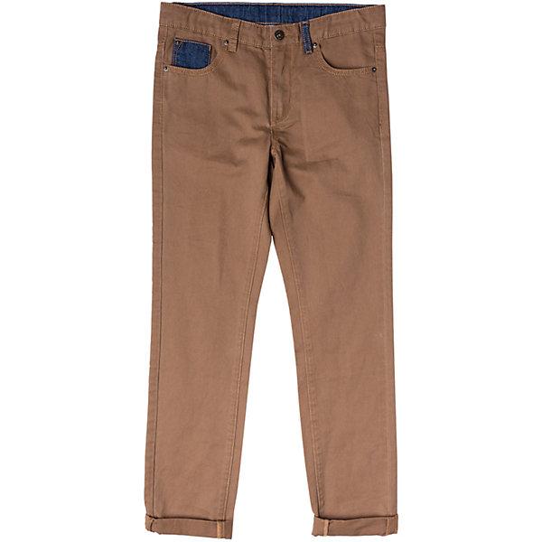 Брюки для мальчика ScoolБрюки<br>Характеристики товара:<br><br>• цвет: коричневый<br>• состав: 100% хлопок<br>• декорированы вставками из контрастной ткани<br>• классический силуэт<br>• модель со шлёвками<br>• карманы <br>• страна бренда: Германия<br>• страна производства: Китай<br><br>Классические брюки для мальчика Scool. Однотонные брюки из натурального хлопка прекрасно подойдут ребенку для отдыха и прогулок. Мягкая ткань не сковывает движений. Брюки декорированы вставками из контрастной ткани.<br><br>Брюки для мальчика от известного бренда Scool можно купить в нашем интернет-магазине.<br><br>Ширина мм: 215<br>Глубина мм: 88<br>Высота мм: 191<br>Вес г: 336<br>Цвет: белый<br>Возраст от месяцев: 156<br>Возраст до месяцев: 168<br>Пол: Мужской<br>Возраст: Детский<br>Размер: 164,158,152,146,140,134<br>SKU: 5406564