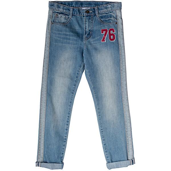 Джинсы для мальчика ScoolДжинсы<br>Характеристики товара:<br><br>• цвет: синий<br>• состав: 80% хлопок, 20% полиэстер<br>• классический силуэт<br>• модель со шлёвками<br>• карманы <br>• эффект потертостей<br>• страна бренда: Германия<br>• страна производства: Китай<br><br>Классические джинсы для мальчика Scool. Джинсы из натурального хлопка прекрасно подойдут ребенку для отдыха и прогулок. Мягкая ткань не сковывает движений ребенка. Джинсы с эффектом потертости, декорированы швами с контрасными нитями. Добавление в хлопок эластана позволяют брюкам сесть по фигуре.<br><br>Джинсы для мальчика от известного бренда Scool можно купить в нашем интернет-магазине.<br><br>Ширина мм: 215<br>Глубина мм: 88<br>Высота мм: 191<br>Вес г: 336<br>Цвет: белый<br>Возраст от месяцев: 156<br>Возраст до месяцев: 168<br>Пол: Мужской<br>Возраст: Детский<br>Размер: 164,158,134,152,140,146<br>SKU: 5406585