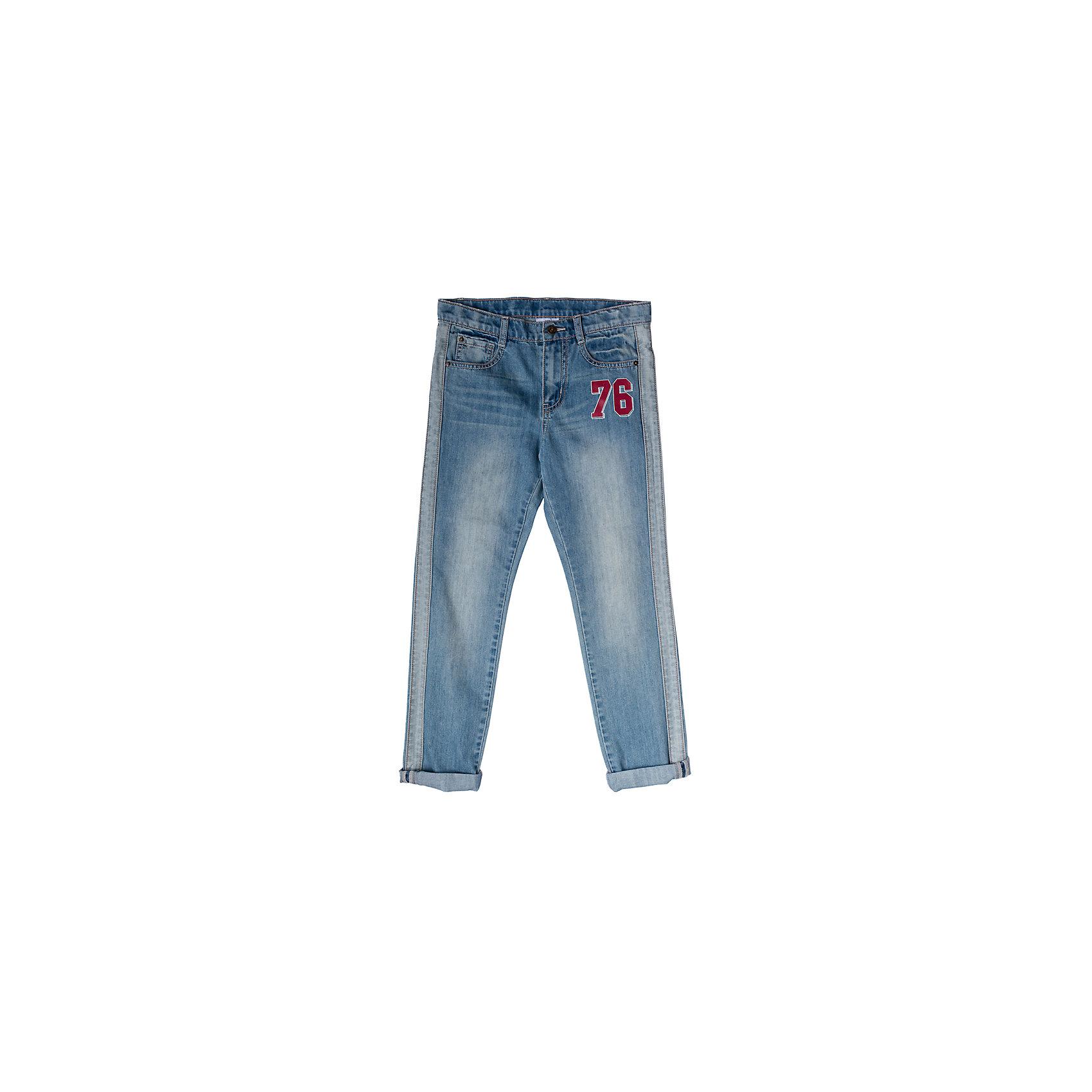 Джинсы для мальчика ScoolДжинсы<br>Характеристики товара:<br><br>• цвет: синий<br>• состав: 80% хлопок, 20% полиэстер<br>• классический силуэт<br>• модель со шлёвками<br>• карманы <br>• эффект потертостей<br>• страна бренда: Германия<br>• страна производства: Китай<br><br>Классические джинсы для мальчика Scool. Джинсы из натурального хлопка прекрасно подойдут ребенку для отдыха и прогулок. Мягкая ткань не сковывает движений ребенка. Джинсы с эффектом потертости, декорированы швами с контрасными нитями. Добавление в хлопок эластана позволяют брюкам сесть по фигуре.<br><br>Джинсы для мальчика от известного бренда Scool можно купить в нашем интернет-магазине.<br><br>Ширина мм: 215<br>Глубина мм: 88<br>Высота мм: 191<br>Вес г: 336<br>Цвет: белый<br>Возраст от месяцев: 156<br>Возраст до месяцев: 168<br>Пол: Мужской<br>Возраст: Детский<br>Размер: 164,134,140,146,152,158<br>SKU: 5406585