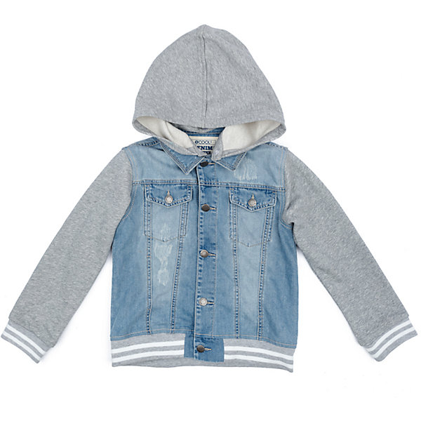 Куртка для мальчика ScoolВерхняя одежда<br>Характеристики товара:<br><br>• цвет: голубой/серый<br>• состав: 80% хлопок, 20% полиэстер<br>• без утеплителя<br>• температурный режим: от +10°С до +20°С<br>• сезон: демисезон<br>• рукава и капюшон из мягкого трикотажа<br>• джинсова ткань с эффектом потертостей<br>• отложной воротник<br>• застежка: пуговицы<br>• съёмный капюшон на кнопках<br>• мягкие резинки на манжетах и по низу изделия<br>• карманы на груди<br>• страна бренда: Германия<br>• страна производства: Китай<br><br>Джинсовая куртка для мальчика Scool. Эта эффектная модная демисезонная куртка обязательно понравится ребенку! Модель выполнена из 2-х видов ткани - натуральной джинсовой и трикотажа (капюшон и рукава). При необходимости капюшон можно отстегнуть - он крепится на застежках-кнопках. Мягкие резинки на манжетах и по низу изделия. Джинсовая ткань с эффектом потертости.<br><br>Куртку для мальчика от известного бренда Scool можно купить в нашем интернет-магазине.<br><br>Ширина мм: 356<br>Глубина мм: 10<br>Высота мм: 245<br>Вес г: 519<br>Цвет: белый<br>Возраст от месяцев: 96<br>Возраст до месяцев: 108<br>Пол: Мужской<br>Возраст: Детский<br>Размер: 134,164,158,152,146,140<br>SKU: 5406658