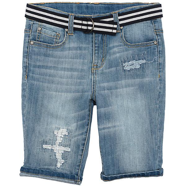 Шорты джинсовые для мальчика ScoolШорты, бриджи, капри<br>Характеристики товара:<br><br>• цвет: синий<br>• состав: 99% хлопок, 1% эластан<br>• сезон: лето<br>• ремень в комплекте<br>• шорты со шлёвками<br>• карманы <br>• эффект потертостей<br>• страна бренда: Германия<br>• страна производства: Китай<br><br>Джинсовые шорты для мальчика Scool. Шорты с потертостями подойдут для отдыха и прогулок. Свободный крой не сковывает движений ребенка. Натуральный материал приятен к телу и не вызывает раздражений. Модель со шлевками и ремнем.<br><br>Шорты для мальчика от известного бренда Scool можно купить в нашем интернет-магазине.<br>Ширина мм: 191; Глубина мм: 10; Высота мм: 175; Вес г: 273; Цвет: голубой; Возраст от месяцев: 96; Возраст до месяцев: 108; Пол: Мужской; Возраст: Детский; Размер: 134,164,158,152,146,140; SKU: 5406714;