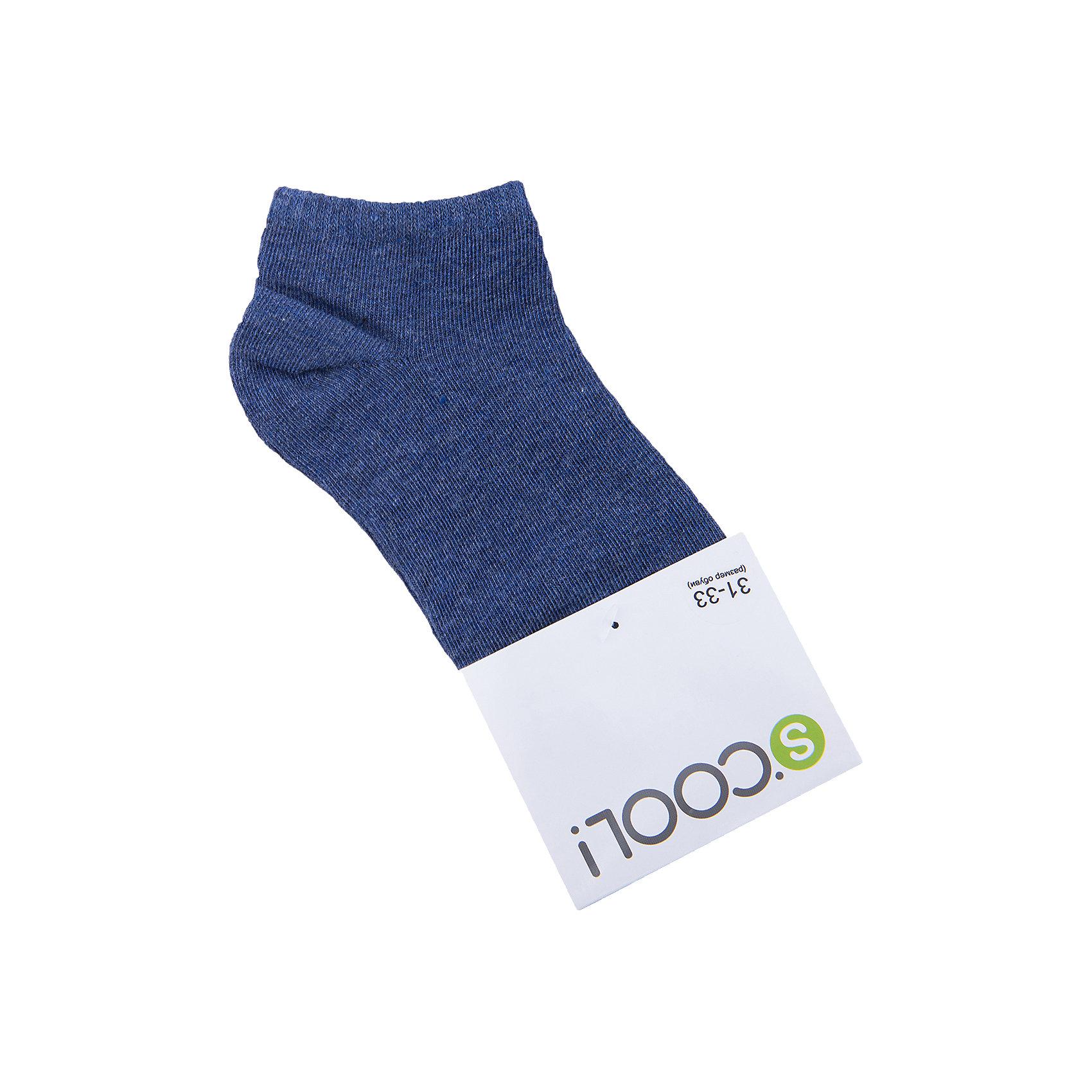 Носки для мальчика ScoolНоски<br>Характеристики товара:<br><br>• цвет: синий<br>• состав: 75% хлопок, 22% нейлон, 3% эластан<br>• короткие<br>• мягкая резинка<br>• плотно прилегают<br>• страна бренда: Германия<br>• страна производства: Китай<br><br>Однотонные носки для мальчика Scool. Короткие носки очень мягкие, из качественных материалов, приятны к телу и не сковывают движений. Хорошо пропускают воздух, тем самым позволяя коже дышать. <br><br>Носки для мальчика от известного бренда Scool можно купить в нашем интернет-магазине.<br><br>Ширина мм: 87<br>Глубина мм: 10<br>Высота мм: 105<br>Вес г: 115<br>Цвет: темно-синий<br>Возраст от месяцев: 108<br>Возраст до месяцев: 144<br>Пол: Мужской<br>Возраст: Детский<br>Размер: 24,22,20<br>SKU: 5406778