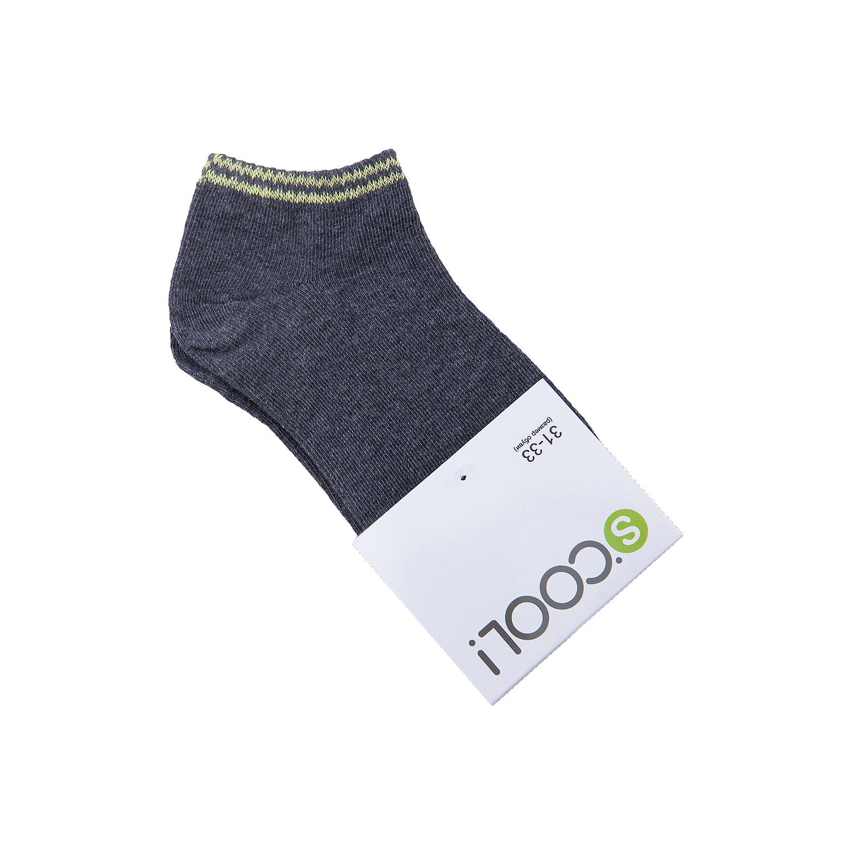 Носки для мальчика ScoolНоски<br>Носки для мальчика Scool<br>Носки очень мягкие, из качественных материалов, приятны к телу и не сковывают движений. Хорошо пропускают воздух, тем самым позволяя коже дышать.  Даже частые стирки, при условии соблюдений рекомендаций по уходу, не изменят ни форму, ни цвет изделий.Преимущества: Мягкие, выполненные из натуральных материалов, приятны к телу, не сковывают движенийХорошо пропускают воздух, позволяя тем самым коже дышатьДаже частые стирки, при условии соблюдений рекомендаций по уходу, не изменят ни форму, ни цвет изделия<br>Состав:<br>75% хлопок, 22% нейлон, 3% эластан<br><br>Ширина мм: 87<br>Глубина мм: 10<br>Высота мм: 105<br>Вес г: 115<br>Цвет: темно-серый<br>Возраст от месяцев: 108<br>Возраст до месяцев: 144<br>Пол: Мужской<br>Возраст: Детский<br>Размер: 20,24,22<br>SKU: 5406802