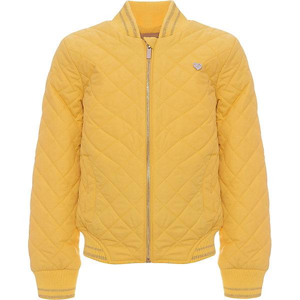 Куртка для девочки ScoolВерхняя одежда<br>Характеристики товара:<br><br>• цвет: желтый<br>• состав: 100% полиэстер<br>• подкладка: 60% полиэстер, 40% хлопок<br>• утеплитель: 100% полиэстер, 80 г/м2<br>• температурный режим: от +5°С до +15°С<br>• сезон: демисезон<br>• стеганая<br>• водоотталкивающая пропитка<br>• удобные карманы<br>• застёжка: молния с защитой подбородка<br>• мягкие резинки на рукавах<br>• светоотражающие элементы<br>• воротник-стойка<br>• страна бренда: Германия<br>• страна производства: Китай<br><br>Утеплённая куртка для девочки Scool. Практичная стильная стеганая куртка с капюшоном, со специальной водоотталкивающей пропиткой  - прекрасное решение для прохладной погоды. Мягкие трикотажные резинки на рукавах защитят ребенка - ветер не сможет проникнуть под куртку. Специальный карман для фиксации застежки-молнии не позволит застежке травмировать нежную кожу ребенка. Куртка на молнии.<br><br>Куртку для девочки от известного бренда Scool можно купить в нашем интернет-магазине.<br>Ширина мм: 356; Глубина мм: 10; Высота мм: 245; Вес г: 519; Цвет: желтый; Возраст от месяцев: 108; Возраст до месяцев: 120; Пол: Женский; Возраст: Детский; Размер: 140,146,152,158,164,134; SKU: 5406862;