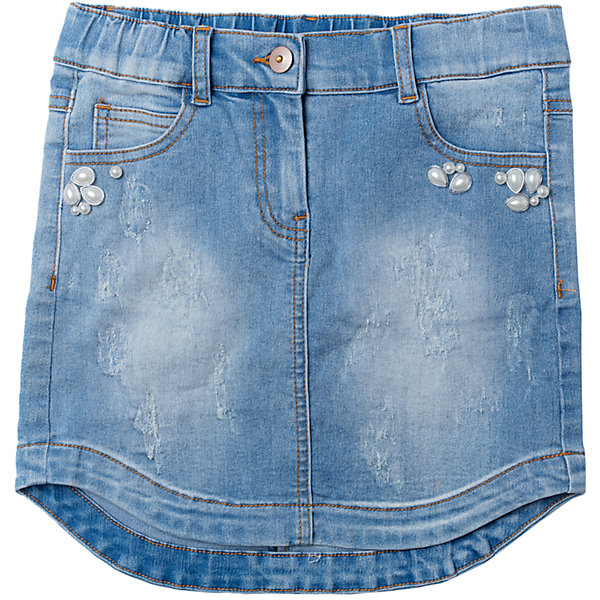 Купить Юбка джинсовая для девочки S'cool, Китай, голубой, 146, 140, 134, 164, 158, 152, Женский