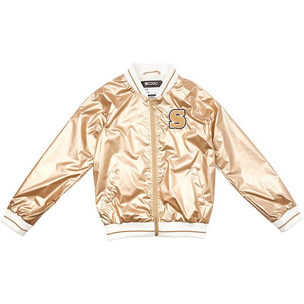 Куртка для девочки ScoolВерхняя одежда<br>Характеристики товара:<br><br>• цвет: золотой<br>• состав: 100% полиэстер<br>• подкладка: 65% полиэстер, 35% хлопок<br>• без утеплителя<br>• температурный режим: от +10С<br>• сезон: демисезон<br>• водоотталкивающая пропитка<br>• удобные карманы<br>• застёжка: молния<br>• воротник-стойка<br>• светоотражатели на рукаве и по низу изделия<br>• мягкие резинки у горловины, на рукавах ипо низу изделия<br>• страна бренда: Германия<br>• страна производства: Китай<br><br>Куртка на молнии для девочки Scool. Эта эффектная модная ветровка обязательно понравится Вашему ребенку! Куртка без капюшона, со специальной водоотталкивающей пропиткой. Мягкие резинки у горловины, на рукавах и по низу изделия защитят ребенка - ветер не сможет проникнуть под куртку. Светоотражатели на рукаве и по низу изделия обеспечат безопасноть ребенка, он будет виден в темное ремя суток.<br><br>Куртку для девочки от известного бренда Scool можно купить в нашем интернет-магазине.<br><br>Ширина мм: 356<br>Глубина мм: 10<br>Высота мм: 245<br>Вес г: 519<br>Цвет: бежевый<br>Возраст от месяцев: 96<br>Возраст до месяцев: 108<br>Пол: Женский<br>Возраст: Детский<br>Размер: 164,134,158,152,146,140<br>SKU: 5407001