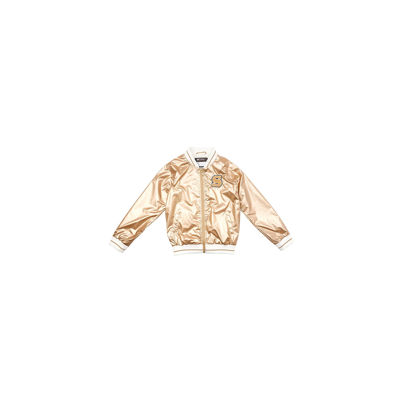 Куртка для девочки ScoolШик и блеск<br>Характеристики товара:<br><br>• цвет: золотой<br>• состав: 100% полиэстер<br>• подкладка: 65% полиэстер, 35% хлопок<br>• без утеплителя<br>• температурный режим: от +10С<br>• сезон: демисезон<br>• водоотталкивающая пропитка<br>• удобные карманы<br>• застёжка: молния<br>• воротник-стойка<br>• светоотражатели на рукаве и по низу изделия<br>• мягкие резинки у горловины, на рукавах ипо низу изделия<br>• страна бренда: Германия<br>• страна производства: Китай<br><br>Куртка на молнии для девочки Scool. Эта эффектная модная ветровка обязательно понравится Вашему ребенку! Куртка без капюшона, со специальной водоотталкивающей пропиткой. Мягкие резинки у горловины, на рукавах и по низу изделия защитят ребенка - ветер не сможет проникнуть под куртку. Светоотражатели на рукаве и по низу изделия обеспечат безопасноть ребенка, он будет виден в темное ремя суток.<br><br>Куртку для девочки от известного бренда Scool можно купить в нашем интернет-магазине.<br><br>Ширина мм: 356<br>Глубина мм: 10<br>Высота мм: 245<br>Вес г: 519<br>Цвет: бежевый<br>Возраст от месяцев: 156<br>Возраст до месяцев: 168<br>Пол: Женский<br>Возраст: Детский<br>Размер: 164,134,140,146,152,158<br>SKU: 5407001
