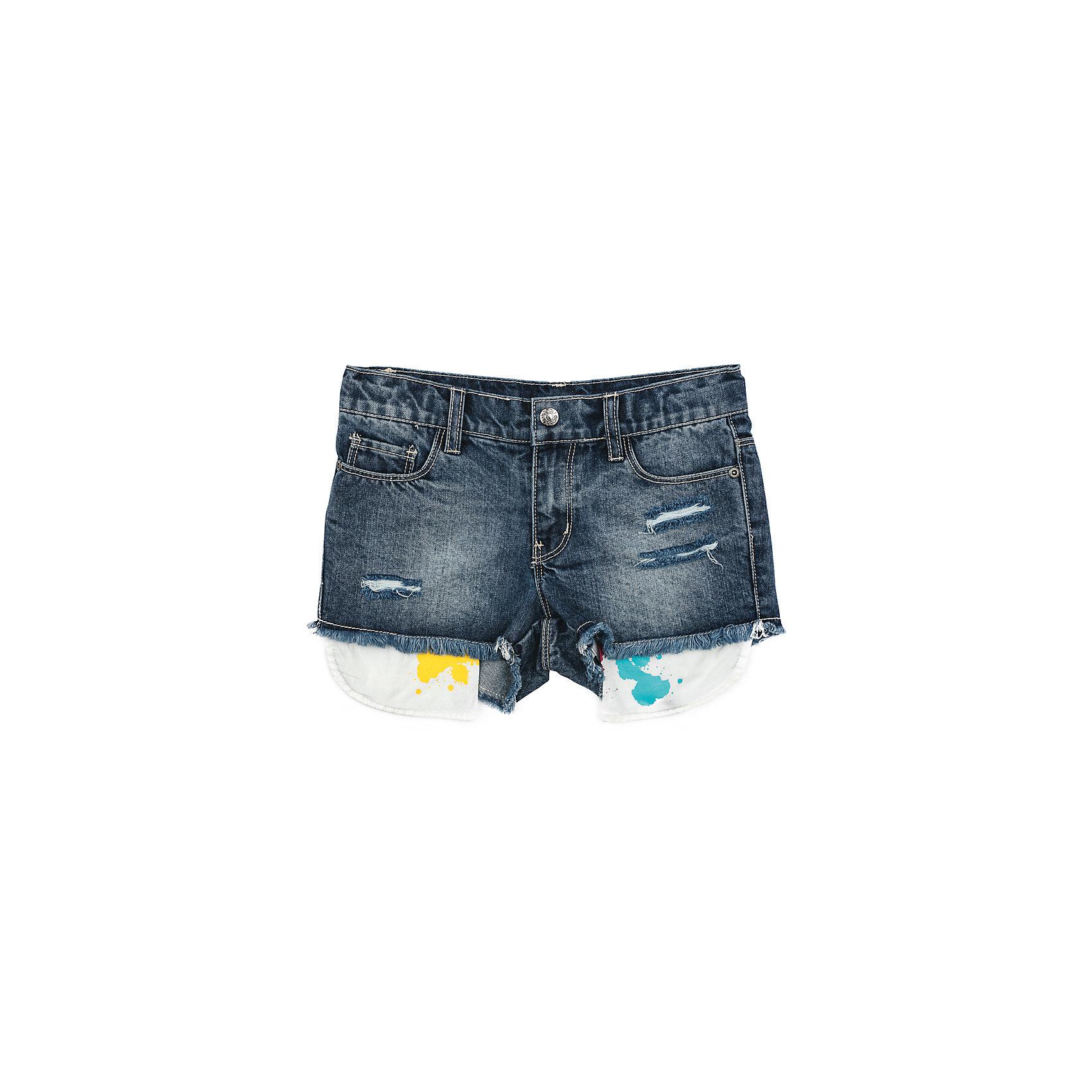 Шорты джинсовые для девочки ScoolДжинсовый бум<br>Шорты для девочки Scool<br>Шорты из натуральной джинсовой ткани с эффектом потертости, прорезями и выступающими изнутри карманами подойдут для отдыха и прогулок. Свободный крой не сковывает движений ребенка. Натуральный материал приятен к телу и не вызывает раздражений. Модель со шлевками. Карманы декорированы эффектом разбрызганных красокПреимущества: Свободный крой не сковывает движения ребенкаМягкий материал приятен к телу и не вызывает раздражений<br>Состав:<br>100% хлопок<br><br>Ширина мм: 191<br>Глубина мм: 10<br>Высота мм: 175<br>Вес г: 273<br>Цвет: синий<br>Возраст от месяцев: 156<br>Возраст до месяцев: 168<br>Пол: Женский<br>Возраст: Детский<br>Размер: 164,146,134,140,152,158<br>SKU: 5407022
