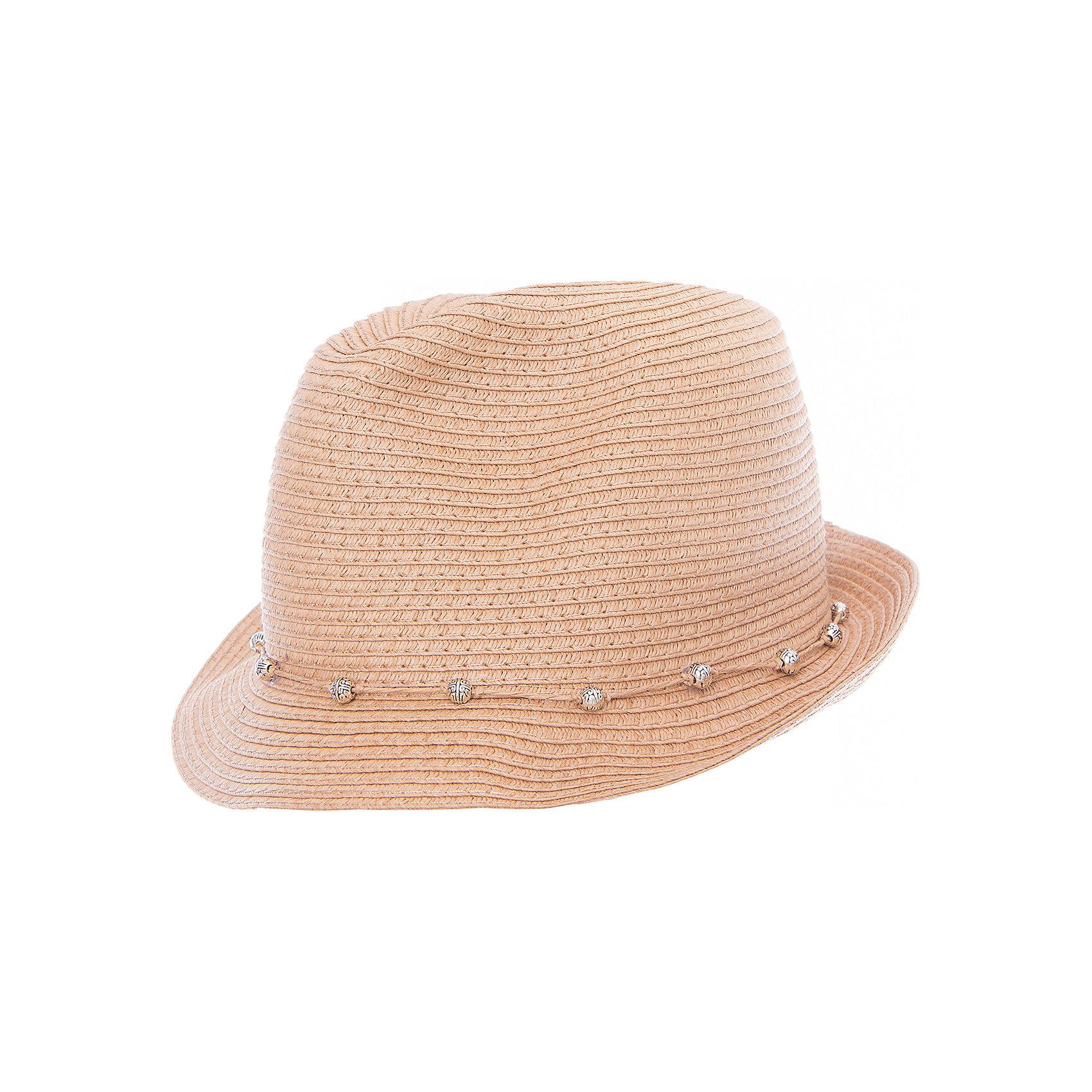 Шляпа для девочки ScoolШляпа для девочки Scool<br>Эффектная шляпа из бумажной соломки прекрасно подойдет для прогулок в жаркую погоду. Декорирована контрастными бусинами.<br>Состав:<br>100% бумажная соломка<br><br>Ширина мм: 89<br>Глубина мм: 117<br>Высота мм: 44<br>Вес г: 155<br>Цвет: светло-коричневый<br>Возраст от месяцев: 60<br>Возраст до месяцев: 72<br>Пол: Женский<br>Возраст: Детский<br>Размер: 56,54<br>SKU: 5407074