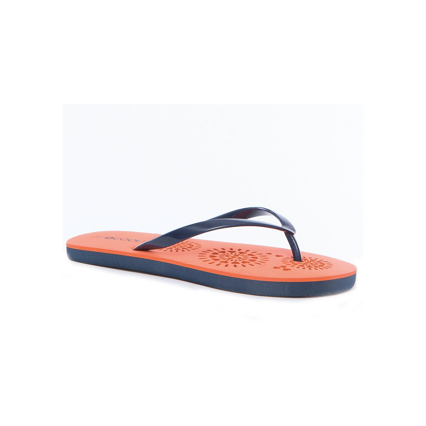 Шлепанцы для девочки ScoolПляжная обувь<br>Характеристики товара:<br><br>• цвет: оранжевый/синий<br>• состав: 100% этилвинилацетат<br>• сезон: лето<br>• подходят для пляжа и для занятий в бассейне<br>• страна бренда: Германия<br>• страна производства: Китай<br><br>Пляжные шлепанцы для девочки Scool. Вьетнамки выполнены из мягкого водонепроницаемого материала. Контрасный рисунок подошвы выгодно отличает данное изделие.<br><br>Пантолеты для девочки от известного бренда Scool можно купить в нашем интернет-магазине.<br><br>Ширина мм: 225<br>Глубина мм: 139<br>Высота мм: 112<br>Вес г: 290<br>Цвет: разноцветный<br>Возраст от месяцев: 168<br>Возраст до месяцев: 1188<br>Пол: Женский<br>Возраст: Детский<br>Размер: 39,38,40,36,37<br>SKU: 5407155