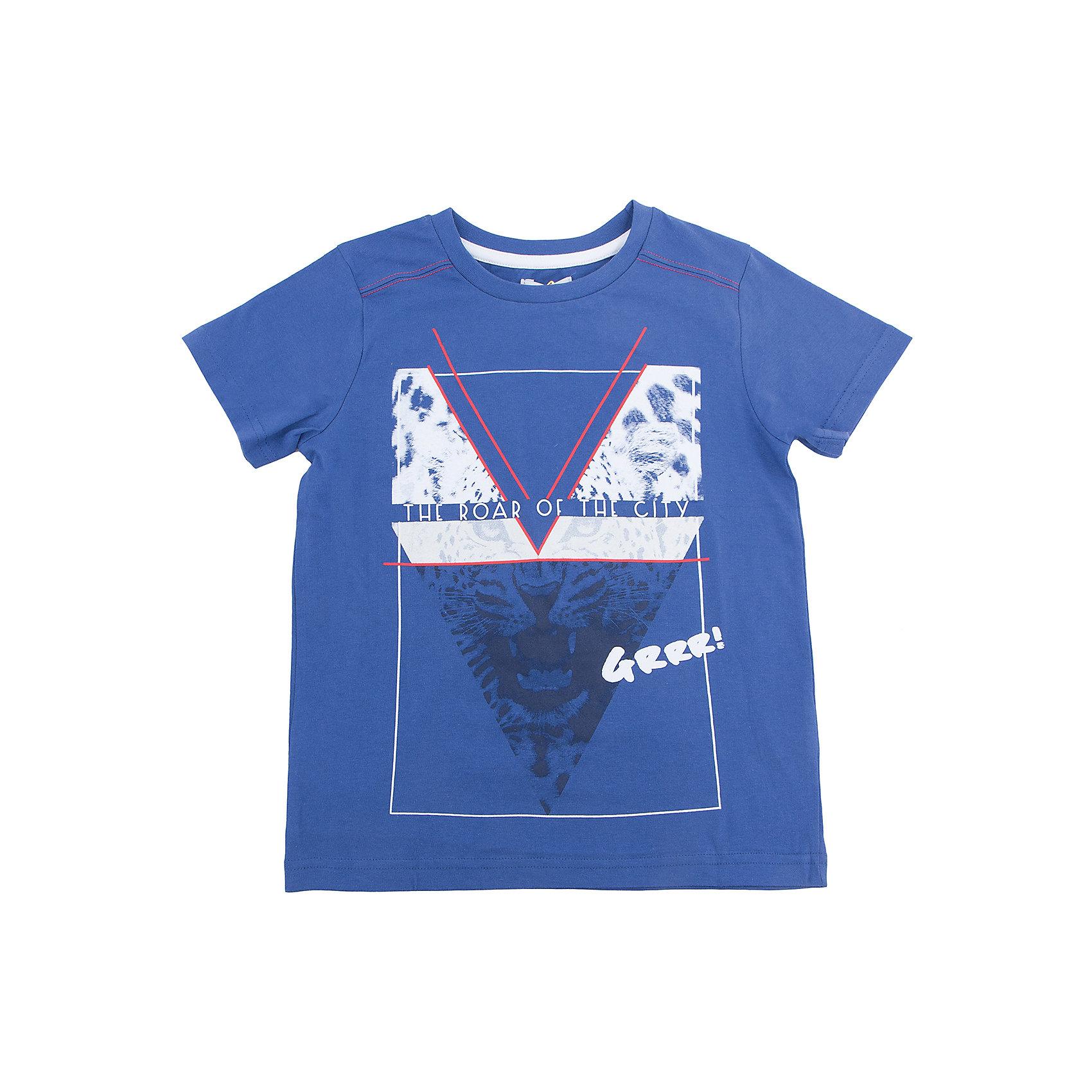 Футболка для мальчика ScoolФутболка для мальчика Scool<br>Яркая хлопковая футболка с короткими рукавами. Воротник на трикотажной резинке. Украшена стильным водным принтом.<br>Состав:<br>100% хлопок<br><br>Ширина мм: 199<br>Глубина мм: 10<br>Высота мм: 161<br>Вес г: 151<br>Цвет: синий<br>Возраст от месяцев: 156<br>Возраст до месяцев: 168<br>Пол: Мужской<br>Возраст: Детский<br>Размер: 164,134,140,146,152,158<br>SKU: 5407176