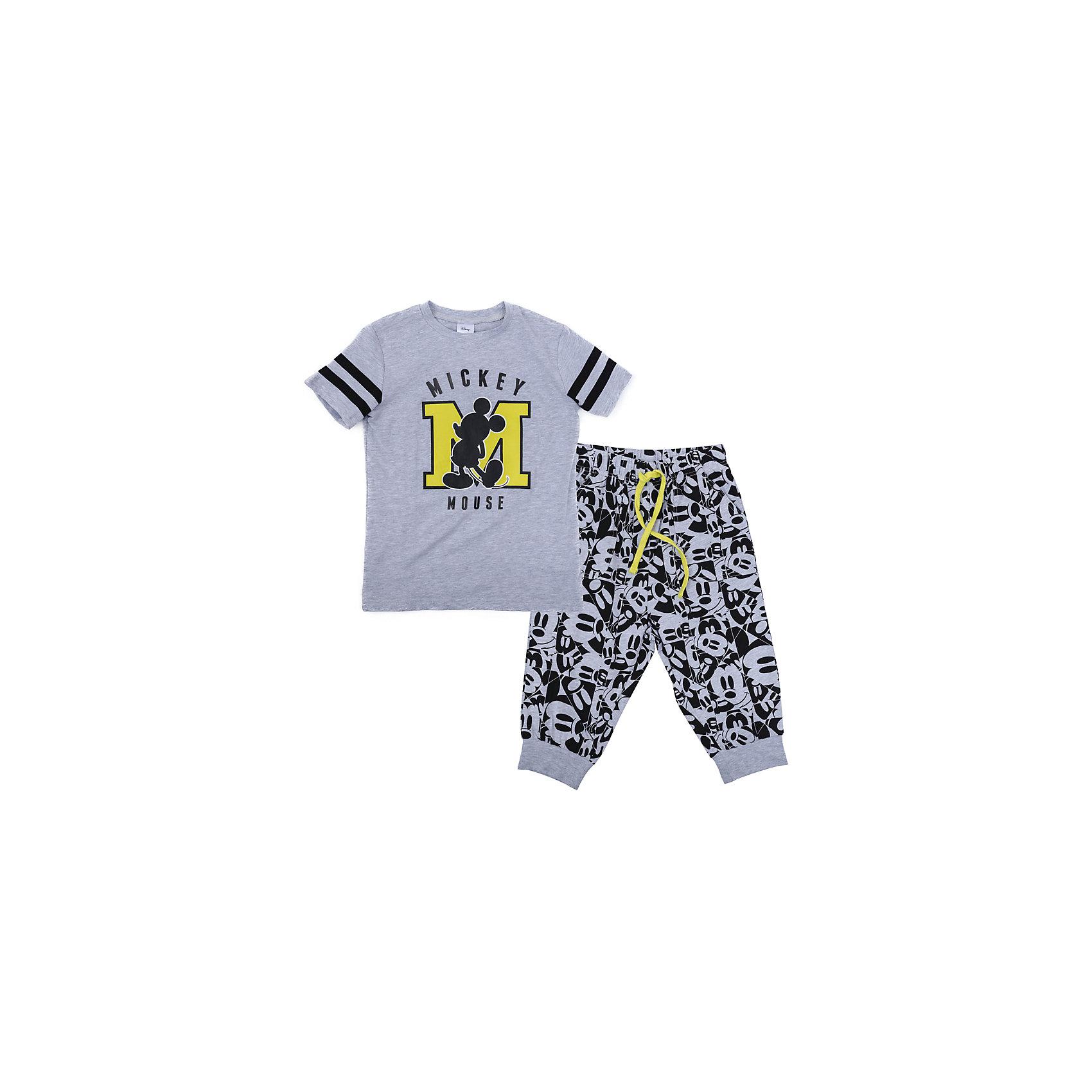 Комплект для мальчика ScoolКомплекты<br>Комплект для мальчика Scool<br>Комплект из футболки и бридж прекрасно подойдет как для домашнего использования, так и для  прогулок на свежем воздухе. Мягкий, приятный к телу материал не сковывает движений. Яркая аппликация является достойным украшением данного изделия. Модель в стиле камуфляж. Бриджи на мягкой удобной резинке с регулируемым шнуром - кулиской, низ брючин на манжетах.<br>Состав:<br>95% хлопок, 5% эластан<br><br>Ширина мм: 215<br>Глубина мм: 88<br>Высота мм: 191<br>Вес г: 336<br>Цвет: разноцветный<br>Возраст от месяцев: 156<br>Возраст до месяцев: 168<br>Пол: Мужской<br>Возраст: Детский<br>Размер: 134,140,146,164,152,158<br>SKU: 5407203
