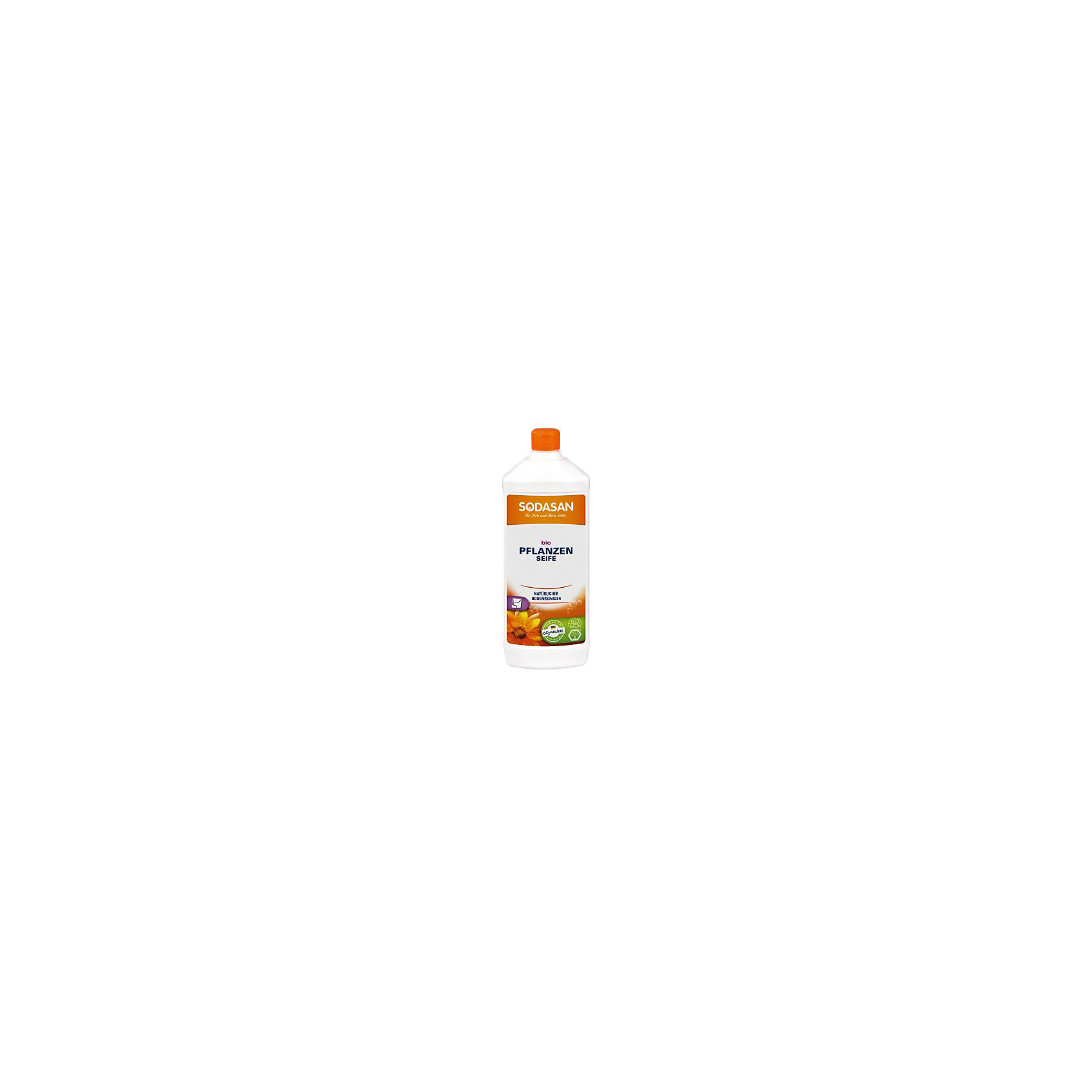 Мыло жидкое без запаха для мытья полов 1л, SodasanБытовая химия<br>Натуральное средство для чистки пола<br>Преимущества:<br><br>изготовлено из высококачественных органических растительных масел<br>отсутствие ароматов, красителей или консервантов<br>формирует естественный защитный слой<br>подходит для использования на всех гладких, очищаемых поверхностях<br>Использование:<br>Чистое мыло без запаха для чистки всех натуральных, необработанных полов. Особенно подходит для деревянных полов с открытыми порами, досок, плиток, мрамора, ламината и линолеума.<br><br>Экологические преимущества:<br>Единственное чистящее вещество в данном продукте – мыло, которое подвержено быстрому и полному биоразложению. Произведено в процессе низкотемпературной сапонификации. Продукт является CO2-нейтральным. Мы используем только электроэнергию Greenpeace energy, следовательно, на 100% обходимся без ядерной энергии.<br><br>Ширина мм: 250<br>Глубина мм: 100<br>Высота мм: 250<br>Вес г: 1000<br>Возраст от месяцев: 216<br>Возраст до месяцев: 1188<br>Пол: Унисекс<br>Возраст: Детский<br>SKU: 5407607