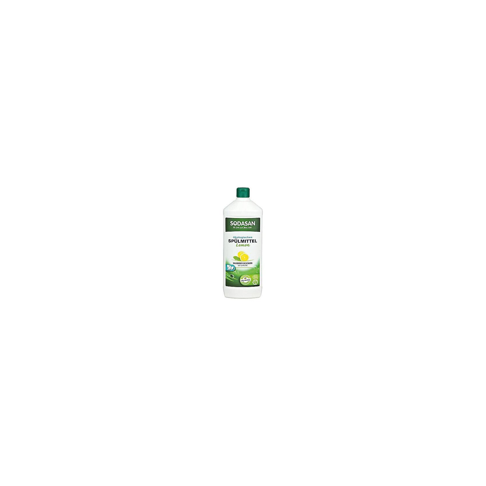 Средство для посуды с лимоном 1л, SodasanБытовая химия<br>Качественно и безопасно моет посуду без лишних усилий! <br>Быстро удаляет загрязнения и жир! <br>Придаёт посуде блеск и не оставляет разводов. <br>В состав входят только безопасные растительные ингредиенты органического происхождения. <br>Специальная формула защищает Ваши руки от пересыхания и делает их мягкими на ощупь. <br>Экономично в использовании!<br> <br>SODASAN Органическое Универсальное средство мытья для посуды с Лимоном.<br>Универсальна для безопасного очищения! Можно использовать для мытья кастрюль, плиты, любых поверхностей на кухне и в доме. Может справиться с сильными загрязнениями, засохшими остатками пищи и жиром. <br>Способ использования: нанесите на губку и протрите загрязненные поверхности. Смойте водой.<br><br>Ширина мм: 250<br>Глубина мм: 100<br>Высота мм: 250<br>Вес г: 1000<br>Возраст от месяцев: 216<br>Возраст до месяцев: 1188<br>Пол: Унисекс<br>Возраст: Детский<br>SKU: 5407621