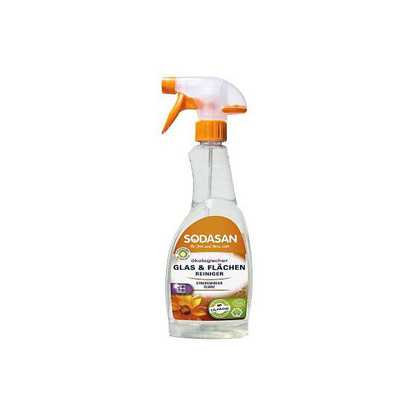 Средство моющее для стекла 500мл, SodasanБытовая химия<br>Блеск без разводов<br>Преимущества:<br><br>содержит чистый спирт<br>без консервантов<br>изготовлено из специально обработанной воды<br>подходит для окон, зеркал и настенной и напольной плитки<br>Использование:<br>Универсальный спрей для чистки разводов на гладких поверхностях. Подходит для микроволоконных тканей.<br><br>Экологические преимущества:<br>Продукт не содержит детергентов или ферментов. Мы используем только электроэнергию Greenpeace energy, следовательно, на 100% обходимся без ядерной энергии.<br><br>Добавить комментарий<br>Ширина мм: 250; Глубина мм: 100; Высота мм: 250; Вес г: 500; Возраст от месяцев: 216; Возраст до месяцев: 1188; Пол: Унисекс; Возраст: Детский; SKU: 5407626;
