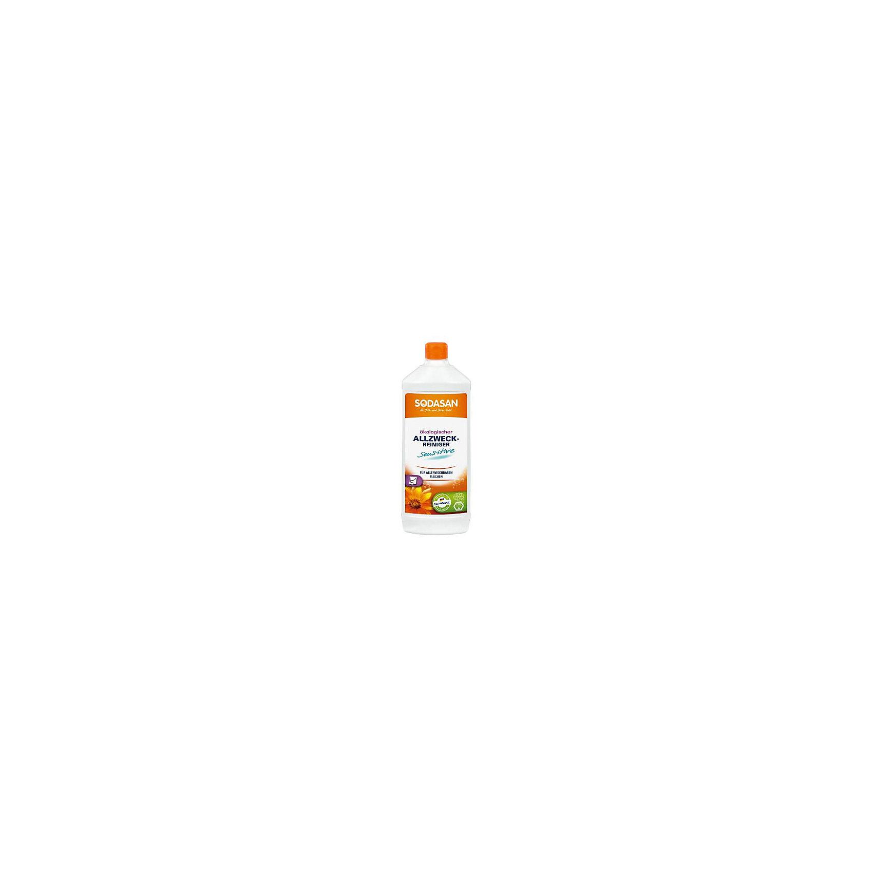 Средство универсальное моющее 1л, SodasanБытовая химия<br>Мягкая, нежная чистка<br>Преимущества:<br><br>с мылом из высококачественных органических растительных масел<br>мягкость, безвредные для кожи питательные формулы<br>без красителей или консервантов<br>подходит для использования на всех гладких, отмываемых поверхностей<br>Использование:<br>Универсальная очистка для удаления бытовых загрязнений со всех поверхностей, таких как дерево, камень, синтетика и ламинат.<br><br>Преимущества:<br>Продукт содержит только растительные очищающие вещества. Произведено в процессе низкотемпературной сапонификации. Продукт является CO2-нейтральным. Мы используем только электроэнергию Greenpeace energy, следовательно, на 100% обходимся без ядерной энергии.<br><br>Ширина мм: 250<br>Глубина мм: 100<br>Высота мм: 250<br>Вес г: 1000<br>Возраст от месяцев: 216<br>Возраст до месяцев: 1188<br>Пол: Унисекс<br>Возраст: Детский<br>SKU: 5407627