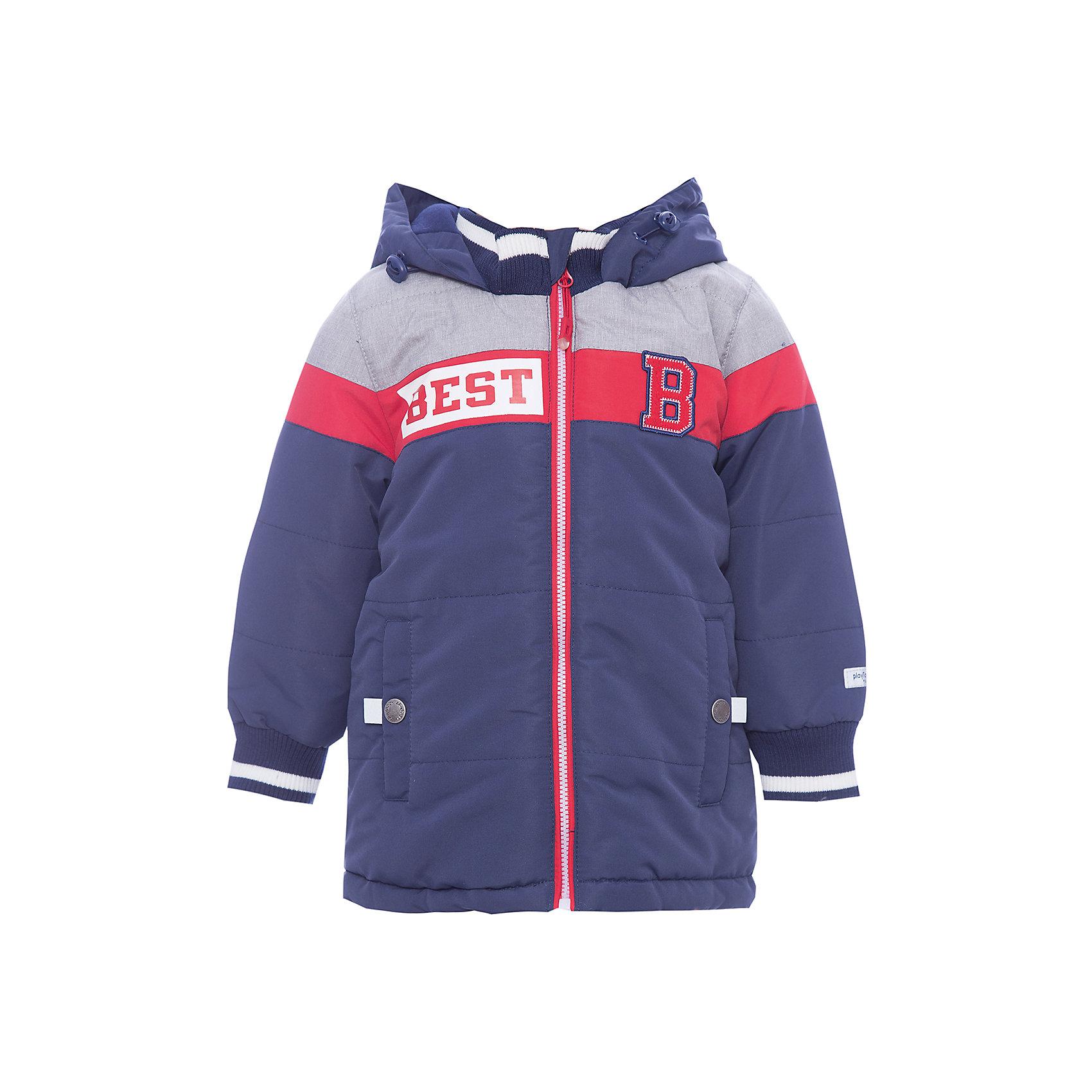 Куртка для мальчика PlayTodayВерхняя одежда<br>Характеристики товара:<br><br>• цвет: синий<br>• состав: 100% полиэстер<br>• подкладка: 80% хлопок, 20% полиэстер<br>• утеплитель: 100% полиэстер, 150 г/м2<br>• температурный режим: от +0°С до +15°С<br>• сезон: демисезон<br>• водоотталкивающая пропитка<br>• карманы<br>• молния с защитой подбородка<br>• эластичные манжеты<br>• светоотражающие элементы<br>• капюшон<br>• страна бренда: Германия<br>• страна производства: Китай<br><br>Куртка с капюшоном для мальчика PlayToday. Практичная утепленная куртка на молнии со специальной водоотталкивающей пропиткой защитит ребенка в любую погоду! Мягкие трикотажные резинки на рукавах защитят ребенка - ветер не сможет проникнуть под куртку.  <br><br>Специальный карман для фиксации застежки-молнии не позволит застежке травмировать нежную детскую кожу. Модель снабжена светоотражателями на рукаве и по низу изделия - ребенок будет виден даже в темное время суток.<br><br>Куртку для мальчика от известного бренда PlayToday можно купить в нашем интернет-магазине.<br><br>Ширина мм: 356<br>Глубина мм: 10<br>Высота мм: 245<br>Вес г: 519<br>Цвет: белый<br>Возраст от месяцев: 18<br>Возраст до месяцев: 24<br>Пол: Мужской<br>Возраст: Детский<br>Размер: 92,74,80,86<br>SKU: 5407690