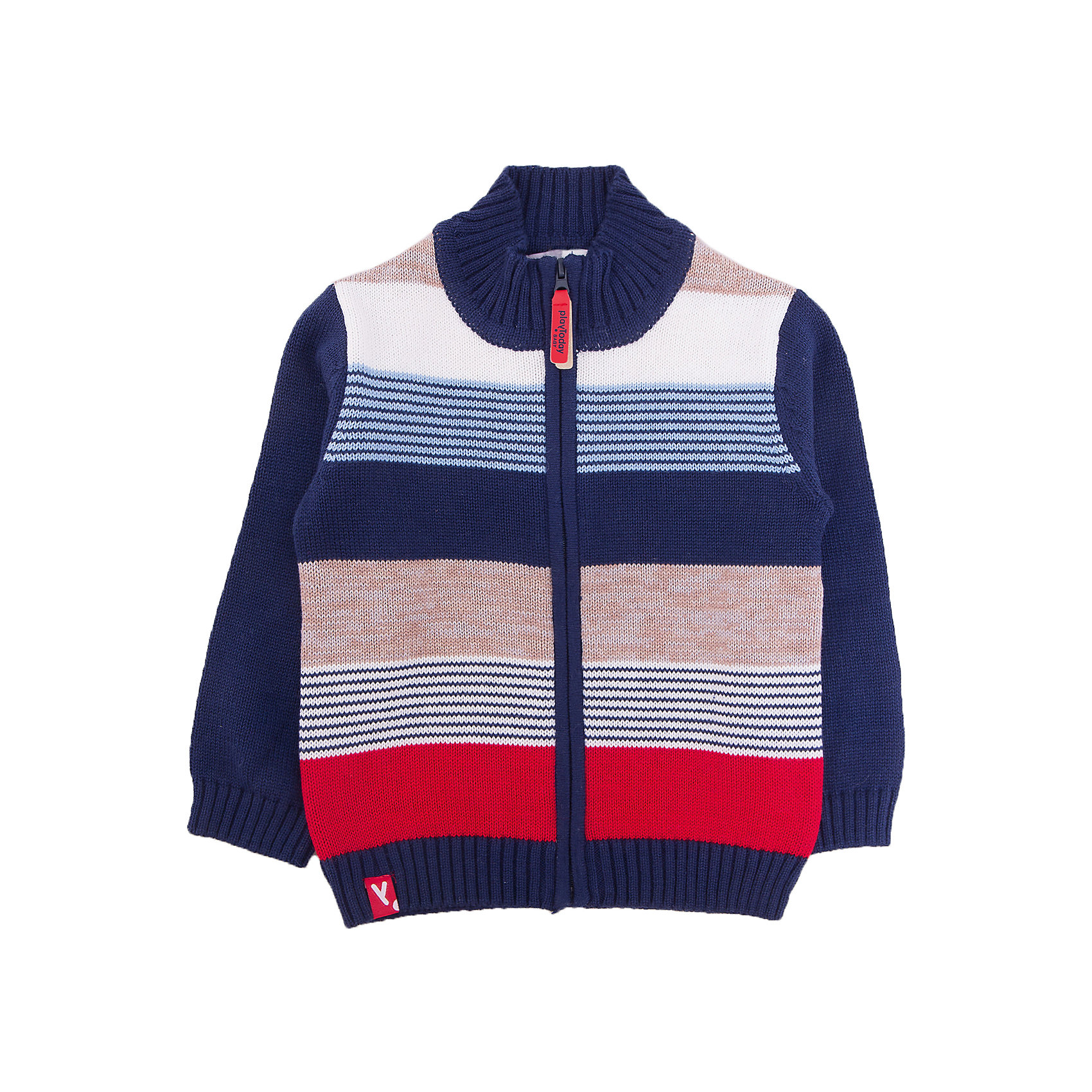 Кардиган для мальчика PlayTodayТолстовки, свитера, кардиганы<br>Характеристики товара:<br><br>• цвет: синий<br>• состав: 60% хлопок, 40% акрил<br>• изготовлен методом yarn dyed, долго выглядит как новый<br>• молния<br>• эластичные манжеты<br>• резинка по низу<br>• страна бренда: Германия<br>• страна производства: Китай<br><br>Кардиган для мальчика PlayToday. Материал изделия изготовлен методом yarn dyed - в процессе производства в полотне используются разного цвета нити. Тем самым изделие, при рекомендуемом уходе, не линяет и надолго остается в прежнем виде, это определенный знак качества. Кофта на молнии. Мягкие резинки на манжетах и по низу изделия позволяют ему держать форму.<br><br>Кардиган для мальчика от известного бренда PlayToday можно купить в нашем интернет-магазине.<br><br>Ширина мм: 190<br>Глубина мм: 74<br>Высота мм: 229<br>Вес г: 236<br>Цвет: разноцветный<br>Возраст от месяцев: 6<br>Возраст до месяцев: 9<br>Пол: Мужской<br>Возраст: Детский<br>Размер: 74,92,80,86<br>SKU: 5407705