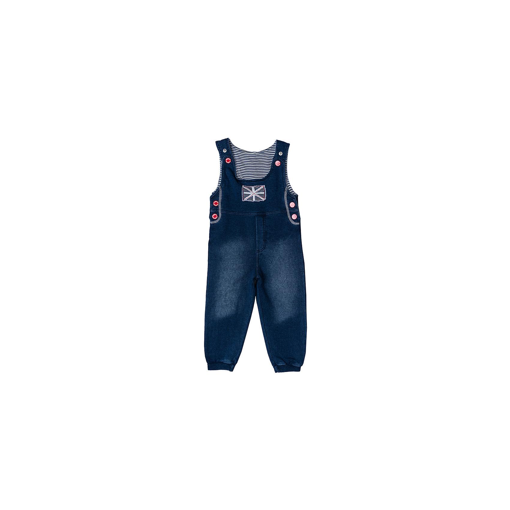 Комбинезон джинсовый для мальчика PlayTodayКомбинезоны<br>Комбинезон для мальчика PlayToday<br>Удобный джинсовый комбинезон с эффектом потертости из натурального материала сможет быть одной из базовых вещей в гардеробе Вашего ребенка. Для удобства снимания и одевания  бретели и боковины модели снабжены застежками - кнопками. Низ брючин на мягких резинках. Свободный крой не сковывает движений. Натуральный материал приятен к телу и не вызывает раздражений.Преимущества: Свободный крой не сковывает движений ребенкаНатуральный материал приятен к телу и не вызывает раздраженийМодель на застежках- кнопках<br>Состав:<br>100% хлопок<br><br>Ширина мм: 157<br>Глубина мм: 13<br>Высота мм: 119<br>Вес г: 200<br>Цвет: полуночно-синий<br>Возраст от месяцев: 18<br>Возраст до месяцев: 24<br>Пол: Мужской<br>Возраст: Детский<br>Размер: 92,74,80,86<br>SKU: 5407725