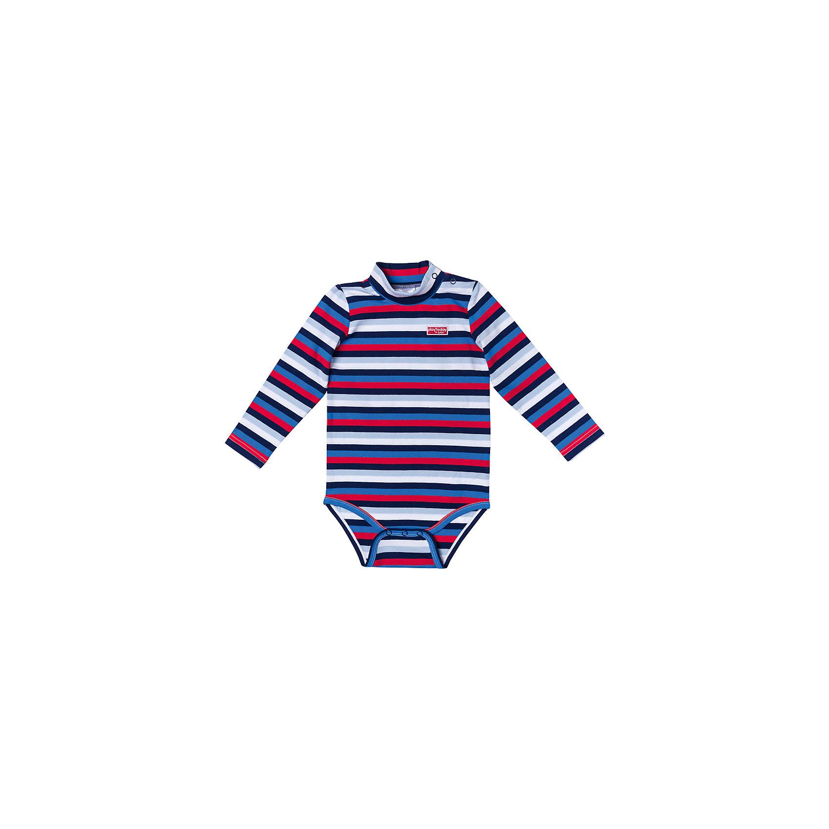 Боди для мальчика PlayTodayБоди для мальчика PlayToday<br>Боди из мягкой хлопковой ткани разнообразит гардероб Вашего малыша. Модель выполнена методомyarn dyed - в процессе производства в полотне используются разного цвета нити. Тем самым изделие, при рекомендуемом уходе, не линяет и надолго остается в прежнем виде, это определенный знак качества. Материал приятен к телу и не вызывает раздражений. Аккуратные швы не вызывают неприятных ощущений. Для удобства снимания - одевания на горловине и в паховой области расположены застежки - кнопки.Преимущества: Метод производства - YARN DYEDАккуратные швы не вызывают неприятных ощущений.Модель на застежках - кнопках<br>Состав:<br>95% хлопок, 5% эластан<br><br>Ширина мм: 157<br>Глубина мм: 13<br>Высота мм: 119<br>Вес г: 200<br>Цвет: разноцветный<br>Возраст от месяцев: 6<br>Возраст до месяцев: 9<br>Пол: Мужской<br>Возраст: Детский<br>Размер: 86,74,80<br>SKU: 5407770