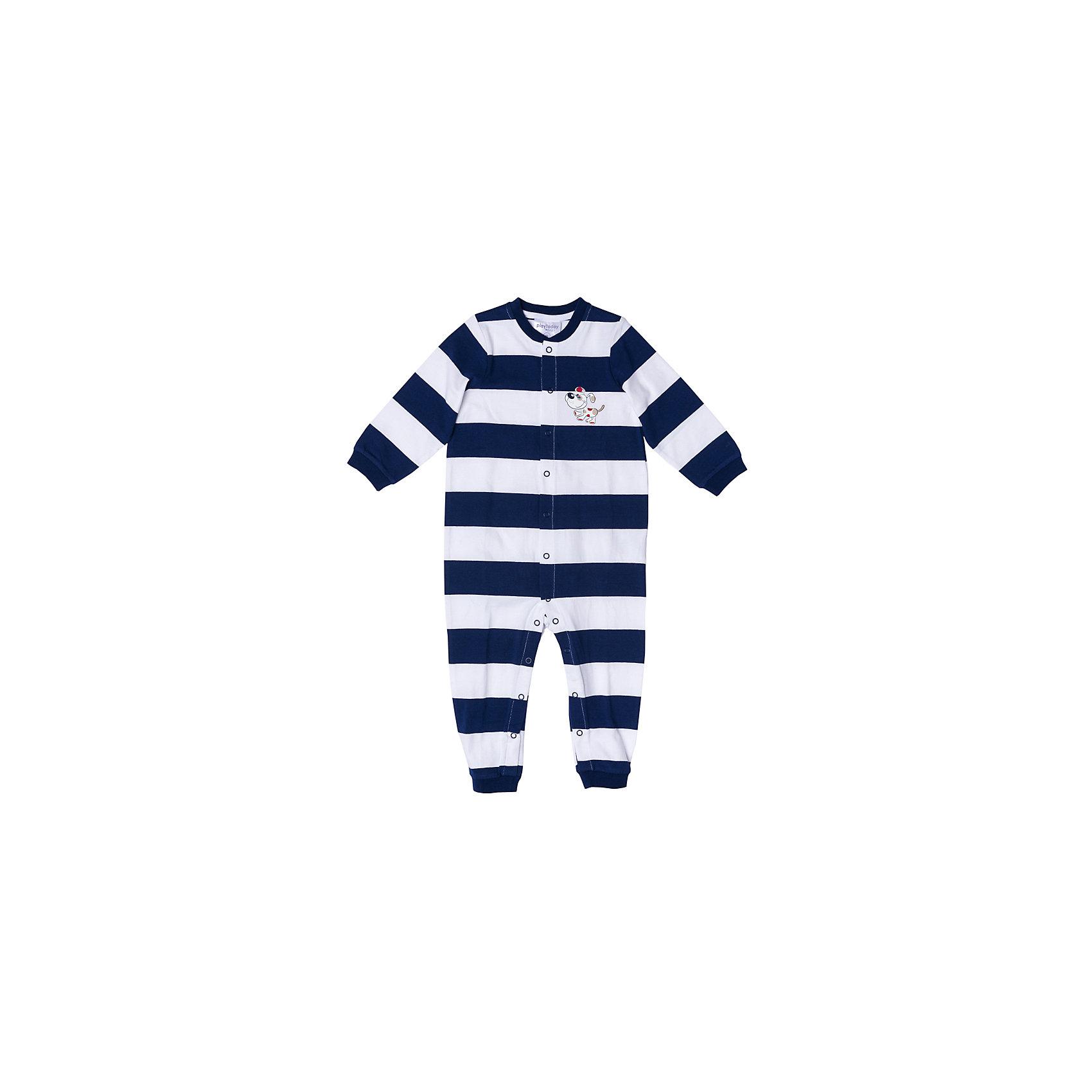 Комбинезон для мальчика PlayTodayКомбинезоны<br>Комбинезон для мальчика PlayToday<br>Комбинезон из мягкой хлопковой ткани разнообразит гардероб Вашего малыша. Модель выполнена методомyarn dyed - в процессе производства в полотне используются разного цвета нити. Тем самым изделие, при рекомендуемом уходе, не линяет и надолго остается в прежнем виде, это определенный знак качества. Материал приятен к телу и не вызывает раздражений. Аккуратные швы не вызывают неприятных ощущений. Модель на застежках - кнопках, для удобства снимания и одевания.Преимущества: Метод производства - YARN DYEDАккуратные швы не вызывают неприятных ощущений.Модель на застежках - кнопках<br>Состав:<br>95% хлопок, 5% эластан<br><br>Ширина мм: 157<br>Глубина мм: 13<br>Высота мм: 119<br>Вес г: 200<br>Цвет: разноцветный<br>Возраст от месяцев: 18<br>Возраст до месяцев: 24<br>Пол: Мужской<br>Возраст: Детский<br>Размер: 92,74,80,86<br>SKU: 5407784