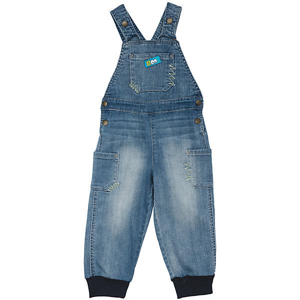 Комбинезон джинсовый для мальчика PlayTodayДжинсы и брючки<br>Характеристики товара:<br><br>• цвет: голубой<br>• состав: 99% хлопок, 1% эластан <br>• сезон: демисезон<br>• бретели  и пояс на кнопках<br>• карманы <br>• эффект потертостей<br>• трикотажные резинки по низу штанин<br>• страна бренда: Германия<br>• страна производства: Китай<br><br>Полукомбинезон из натуральной джинсовой ткани с эффектом потертости сможет быть одной из базовых вещей детского гардероба. Низ штанин на мягких трикотажных резинках. Изделие удобно снимать и одевать за счет удобных застежек - кнопок на поясе и на бретелях.<br><br>Полукомбинезон для мальчика от известного бренда Scool можно купить в нашем интернет-магазине.<br><br>Ширина мм: 157<br>Глубина мм: 13<br>Высота мм: 119<br>Вес г: 200<br>Цвет: голубой<br>Возраст от месяцев: 6<br>Возраст до месяцев: 9<br>Пол: Мужской<br>Возраст: Детский<br>Размер: 74,92,80,86<br>SKU: 5407850