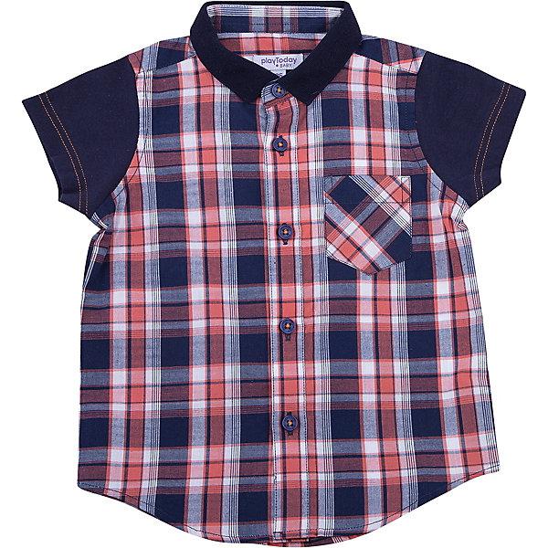Рубашка для мальчика PlayTodayБлузки и рубашки<br>Характеристики товара:<br><br>• цвет: красный/черный<br>• состав: 100% хлопок<br>• сезон: лето<br>• карман на груди<br>• короткие рукава<br>• застежки: пуговицы<br>• воротник-стойка<br>• страна бренда: Германия<br>• страна производства: Китай<br><br>Рубашка в клетку для мальчика PlayToday. Эффектная рубашка с коротким рукавом для мальчика в стиле кантри. Практична и очень удобна для повседневной носки. Ткань мягкая и приятная на ощупь, не раздражает нежную детскую кожу. Стиль отвечает всем последним тенденциям детской моды. Рубашка с отложным воротничком и накладным карманом. Даже в самой активной игре ребенок будет всегда иметь аккуратный вид.<br><br>Сорочку для мальчика от известного бренда PlayToday можно купить в нашем интернет-магазине.<br>Ширина мм: 157; Глубина мм: 13; Высота мм: 119; Вес г: 200; Цвет: белый; Возраст от месяцев: 6; Возраст до месяцев: 9; Пол: Мужской; Возраст: Детский; Размер: 74,92,86,80; SKU: 5407855;