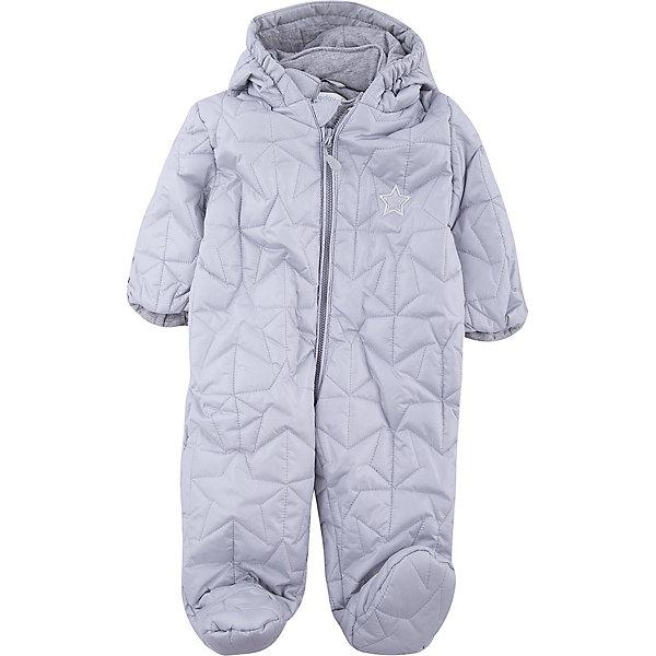 Комбинезон для мальчика PlayTodayВерхняя одежда<br>Характеристики товара:<br><br>• цвет: серый<br>• состав: 100% полиэстер<br>• подкладка: 100% хлопок<br>• утеплитель: 100% полиэстер, 150 г/м2<br>• температурный режим: от +0°С до +15°С<br>• стеганый<br>• кисти рук закрываются теплыми защитными кармашками<br>• молния с защитой подбородка<br>• светоотражающие элементы<br>• капюшон на мягкой резинке <br>• капюшон не отстегивается<br>• страна бренда: Германия<br>• страна производства: Китай<br><br>Стеганый комбинезон с капюшоном для мальчика PlayToday. Утепленный комбинезон на молнии, с капюшоном прекрасно подойдет ребенку в прохладную погоду. Специальный карман для фиксации застежки-молнии не позволит застежке травмировать нежную кожу ребенка. Капюшон на мягкой резинке. Подкладка из натурального хлопка. Кисти рук закрываются теплыми защитными кармашками. <br><br>Комбинезон для мальчика от известного бренда PlayToday можно купить в нашем интернет-магазине.<br>Ширина мм: 356; Глубина мм: 10; Высота мм: 245; Вес г: 519; Цвет: серый; Возраст от месяцев: 2; Возраст до месяцев: 5; Пол: Мужской; Возраст: Детский; Размер: 62,74; SKU: 5407981;