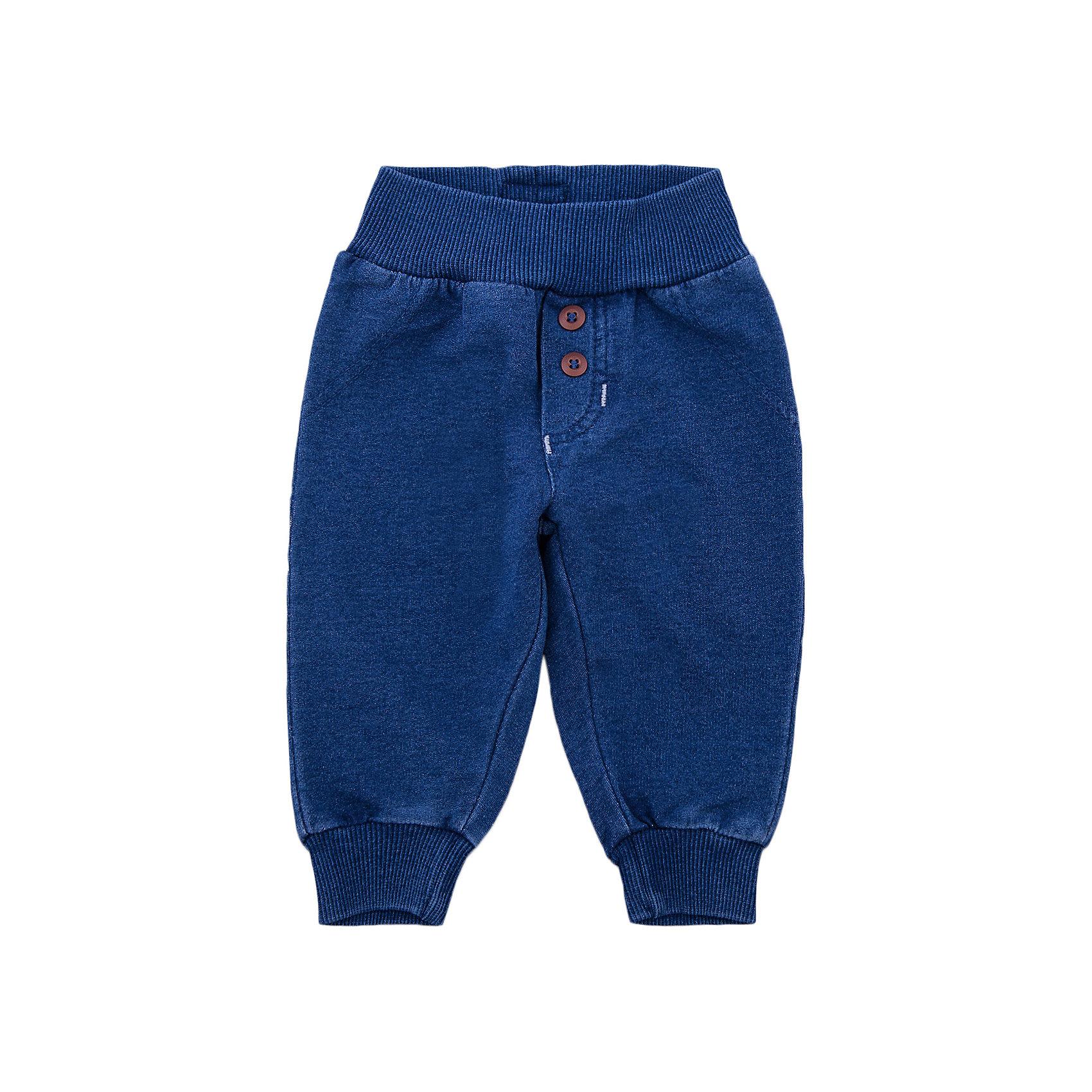 Брюки для мальчика PlayTodayДжинсы и брючки<br>Брюки для мальчика PlayToday<br>Удобные брюки смогут быть одной из базовых вещей в гардеробе Вашего ребенка. Модель на широкой резинке, низ штанин на мягких манжетах. Свободный крой не сковывает движений ребенка.<br>Состав:<br>95% хлопок, 5% эластан<br><br>Ширина мм: 215<br>Глубина мм: 88<br>Высота мм: 191<br>Вес г: 336<br>Цвет: полуночно-синий<br>Возраст от месяцев: 6<br>Возраст до месяцев: 9<br>Пол: Мужской<br>Возраст: Детский<br>Размер: 56,62,68,74<br>SKU: 5407999