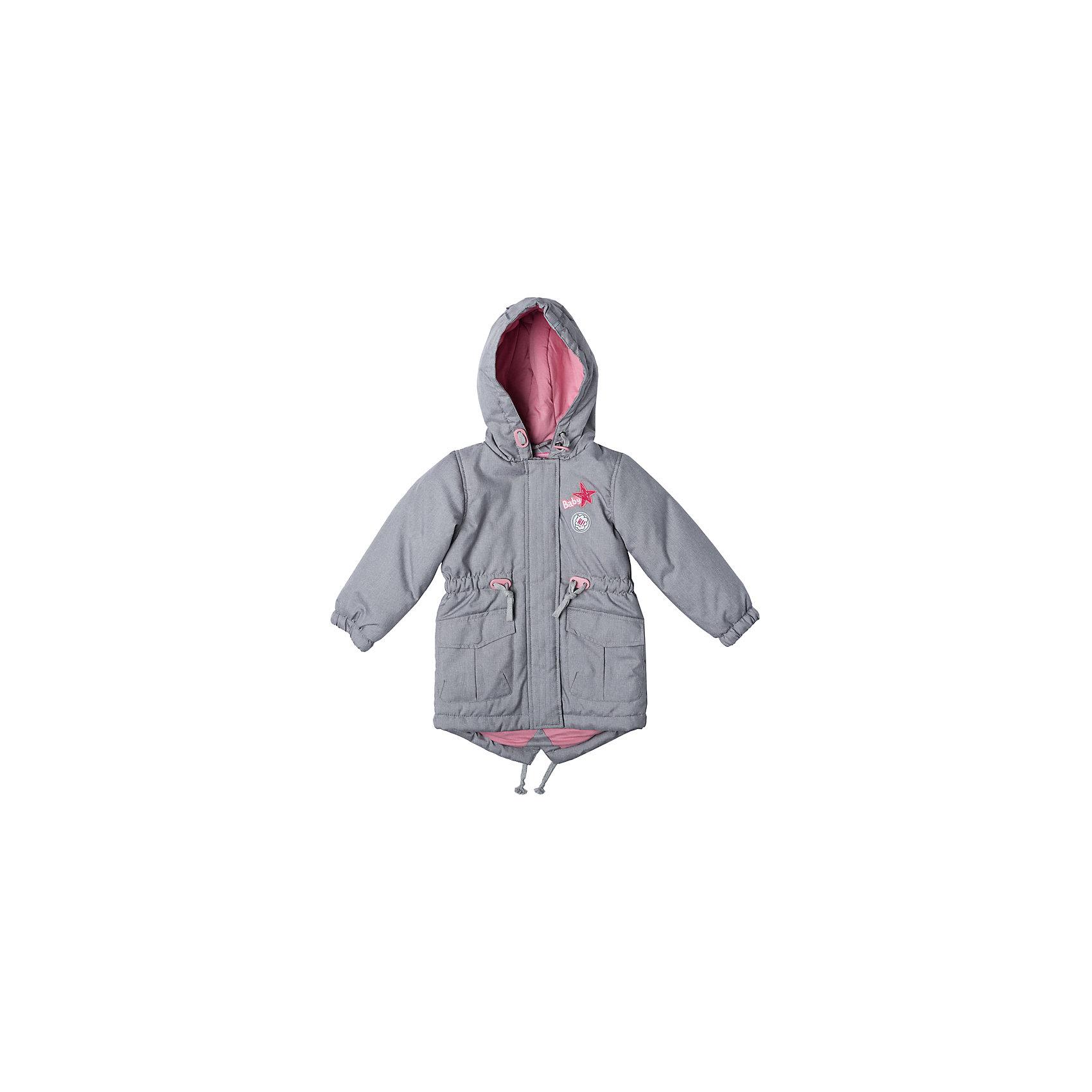 Куртка для девочки PlayTodayКуртка для девочки PlayToday<br>Практичная утепленная куртка с капюшоном со специальной водоотталкивающей пропиткой защитит Вашего ребенка в любую погоду! Мягкие трикотажные резинки на рукавах защитят Вашего ребенка - ветер не сможет проникнуть под куртку.  Специальный карман для фиксации застежки-молнии не позволит застежке травмировать нежную детскую кожу. Мягкая резинка на капюшоне не позволит ему упасть с головы вашего ребенка даже во время активных игр. Для дополнительного сохранения тепла модель снабжена шнурами - кулисками на поясе и по низу изделияПреимущества: Защита подбородка. Специальный карман для фиксации застежки-молнии. Наличие данного кармана не позволит застежке -молнии травмировать нежную кожу ребенкаКапюшон на мягкой резинкеВодоооталкивающая пропитка<br>Состав:<br>Верх: 100% полиэстер, подкладка: 80% хлопок, 20% полиэстер, Утеплитель 100% полиэстер, 150 г/м2<br><br>Ширина мм: 356<br>Глубина мм: 10<br>Высота мм: 245<br>Вес г: 519<br>Цвет: разноцветный<br>Возраст от месяцев: 18<br>Возраст до месяцев: 24<br>Пол: Женский<br>Возраст: Детский<br>Размер: 92,74,80,86<br>SKU: 5408084