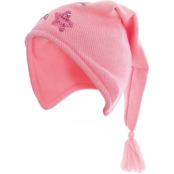 Шапка для девочки PlayTodayДемисезонные<br>Характеристики товара:<br><br>• цвет: розовый<br>• состав: 100% акрил, подкладка: 100% полиэстер<br>• эластичная вязка<br>• плотно прилегает к голове<br>• дышащий материал<br>• декорирована пайетками<br>• комфортная посадка<br>• коллекция: весна-лето 2017<br>• страна бренда: Германия<br>• страна производства: Китай<br><br>Популярный бренд PlayToday выпустил новую коллекцию! Вещи из неё продолжают радовать покупателей удобством, стильным дизайном и продуманным кроем. Дети носят их с удовольствием. PlayToday - это линейка товаров, созданная специально для детей. Дизайнеры учитывают новые веяния моды и потребности детей. Порадуйте ребенка обновкой от проверенного производителя!<br>Такая симпатичная модель обеспечит ребенку комфорт благодаря качественному материалу и продуманному крою. С помощью неё можно удобно одеться по погоде. Очень модная вещь! Отлично подходит для переменной погоды межсезонья.<br><br>Шапку для девочки от известного бренда PlayToday можно купить в нашем интернет-магазине.<br><br>Ширина мм: 89<br>Глубина мм: 117<br>Высота мм: 44<br>Вес г: 155<br>Цвет: светло-розовый<br>Возраст от месяцев: 6<br>Возраст до месяцев: 9<br>Пол: Женский<br>Возраст: Детский<br>Размер: 46,48<br>SKU: 5408205