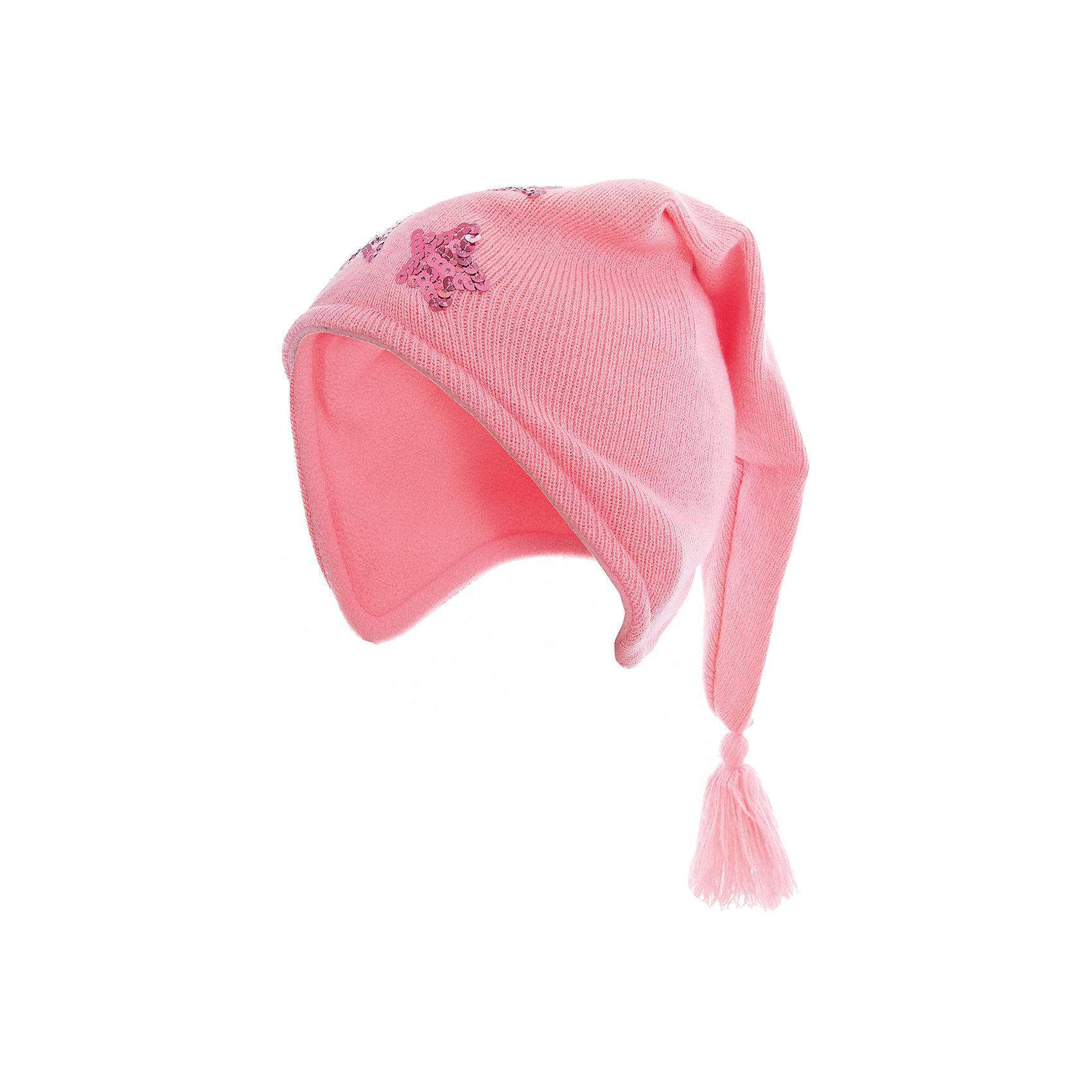 Шапка для девочки PlayTodayГоловные уборы<br>Шапка для девочки PlayToday<br>Шапка гномика для девочки из трикотажа с эффектной кисточкой подойдет Вашему ребенку для прогулок в прохладную погоду. Модель на завязках, плотно прилегает к голове, комфортна при носке.Преимущества: На завязках, плотно прилегает к головеКомфортна при носке<br>Состав:<br>Верх: 100% акрил,  подкладка: 100% полиэстер<br><br>Ширина мм: 89<br>Глубина мм: 117<br>Высота мм: 44<br>Вес г: 155<br>Цвет: светло-розовый<br>Возраст от месяцев: 6<br>Возраст до месяцев: 9<br>Пол: Женский<br>Возраст: Детский<br>Размер: 46,48<br>SKU: 5408205