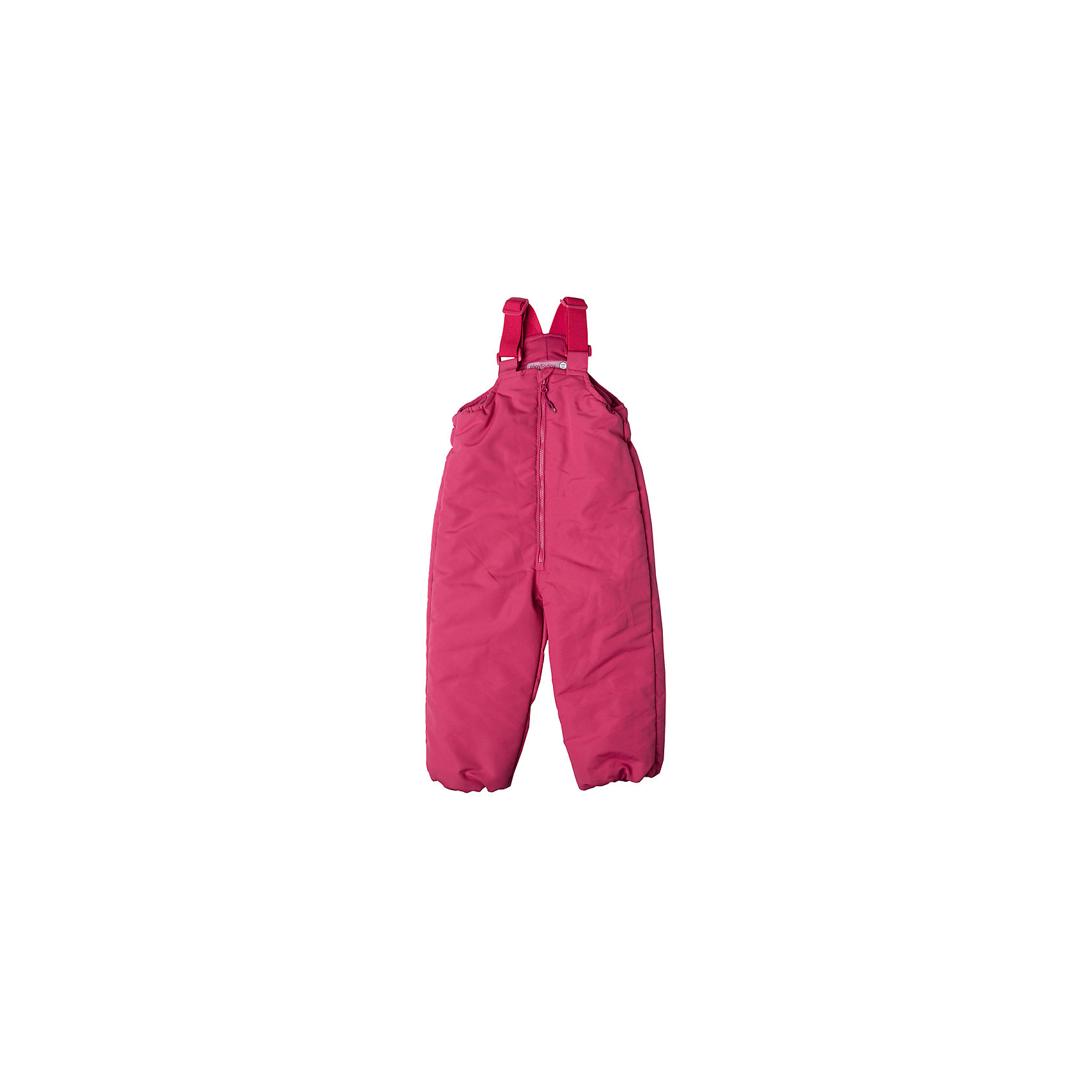 Полукомбинезон для девочки PlayTodayВерхняя одежда<br>Полукомбинезон для девочки PlayToday<br>Утепленный полукомбинезон прекрасно подойдет для холодной ветреной погоды. Модель на поясе с широкой резинкой для дополнительного сохранения тепла. Регулируемые широкие бретели позволят подогнать полукомбинезон по росту ребенка.  Модель снабжена светоотражающими элемантами. Ваш ребенок будет виден в темное время суток.Преимущества: СветоотражателиНа поясе широкая резинкаРегулируемые бретели<br>Состав:<br>Верх: 100% полиэстер, подкладка: 80% хлопок, 20% полиэстер, Утеплитель 100% полиэстер, 150 г/м2<br><br>Ширина мм: 215<br>Глубина мм: 88<br>Высота мм: 191<br>Вес г: 336<br>Цвет: розовый<br>Возраст от месяцев: 18<br>Возраст до месяцев: 24<br>Пол: Женский<br>Возраст: Детский<br>Размер: 92,74,80,86<br>SKU: 5408223