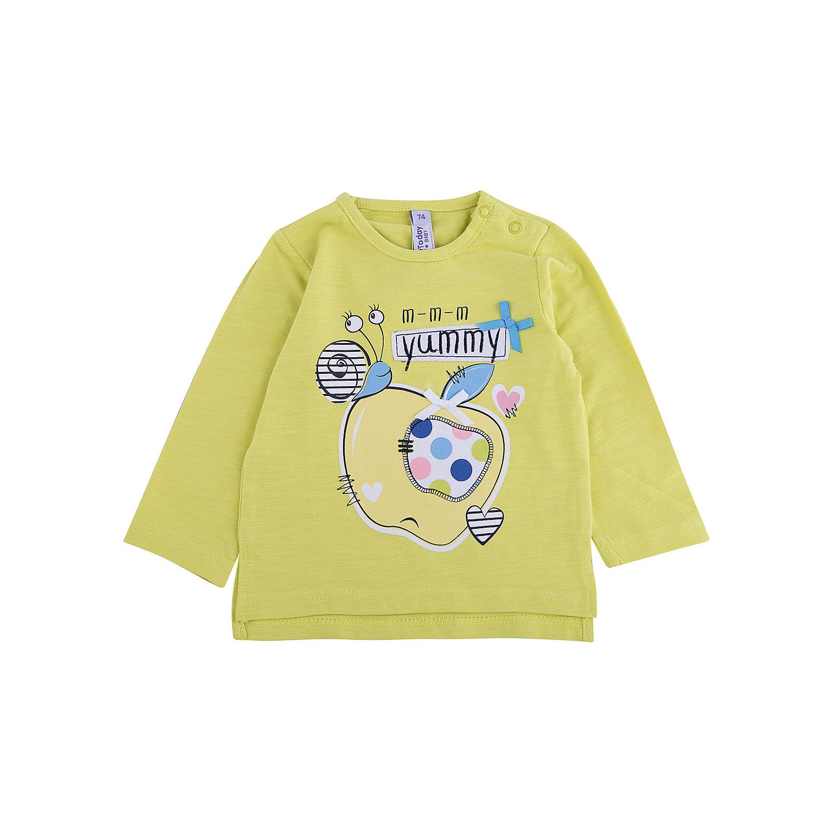 Футболка с длииным рукавом для девочки PlayTodayФутболка с длииным рукавом для девочки PlayToday<br>Футболка свободного классического кроя прекрасно подойдет как для домашнего использования, так и для прогулок на свежем воздухе. Можно использовать в качестве базовой вещи повседневного гардероба Вашего ребенка. Для удобства снимания и одевания у горловины расположены 2 застежки - кнопки.Преимущества: Натуральный материал приятен к телуСвободный крой не сковывает движений ребенка<br>Состав:<br>95% хлопок, 5% эластан<br><br>Ширина мм: 230<br>Глубина мм: 40<br>Высота мм: 220<br>Вес г: 250<br>Цвет: разноцветный<br>Возраст от месяцев: 18<br>Возраст до месяцев: 24<br>Пол: Женский<br>Возраст: Детский<br>Размер: 92,80,74,86<br>SKU: 5408293
