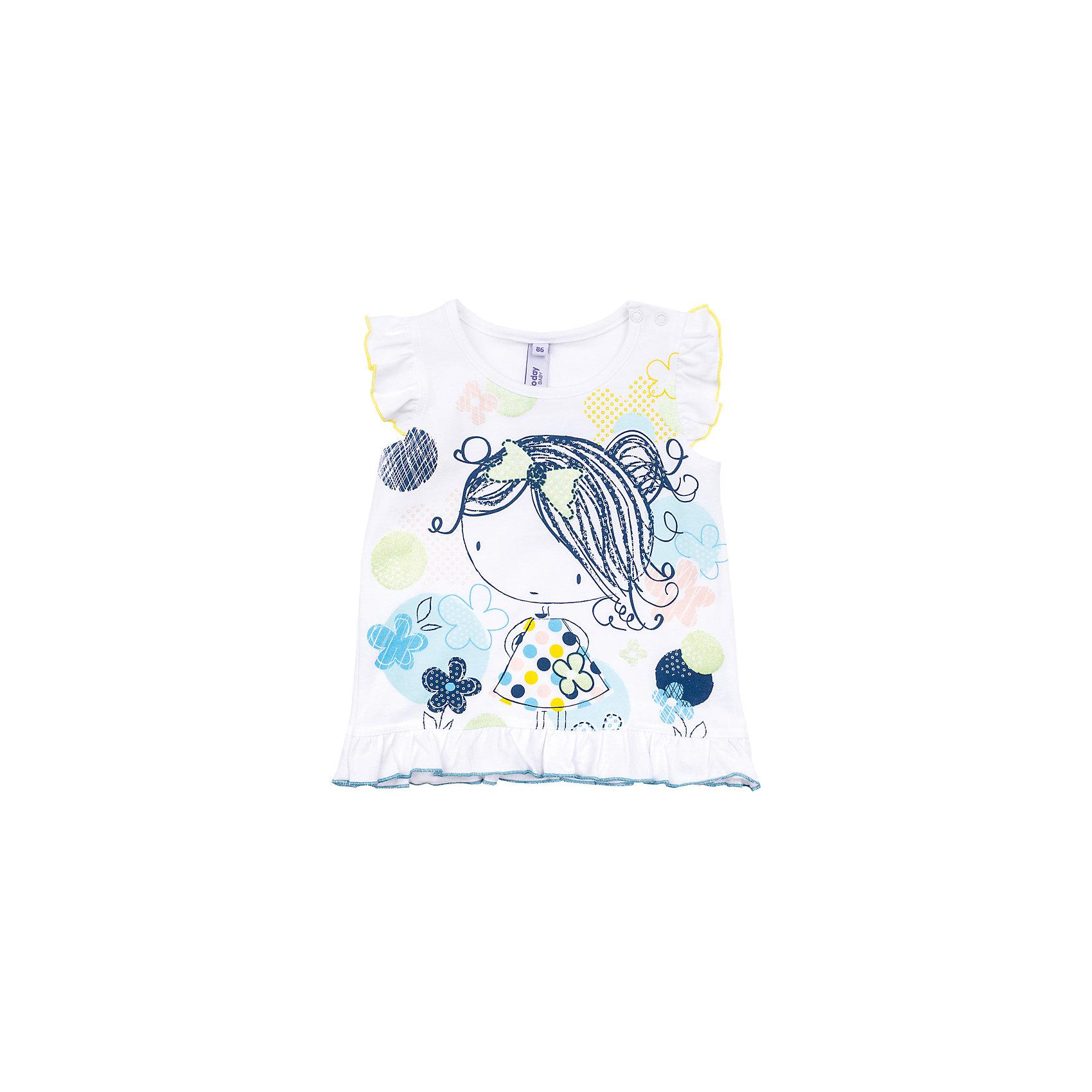Топ для девочки PlayTodayТоп для девочки PlayToday<br>Топ из натуральной ткани с ярким сочным принтом будет прекрасным дополнением летнего детского гардероба. Пройма рукавов декорирована мягкими складками, которые дают эффект крылышек.<br>Состав:<br>95% хлопок, 5% эластан<br><br>Ширина мм: 199<br>Глубина мм: 10<br>Высота мм: 161<br>Вес г: 151<br>Цвет: разноцветный<br>Возраст от месяцев: 18<br>Возраст до месяцев: 24<br>Пол: Женский<br>Возраст: Детский<br>Размер: 92,74,80,86<br>SKU: 5408318