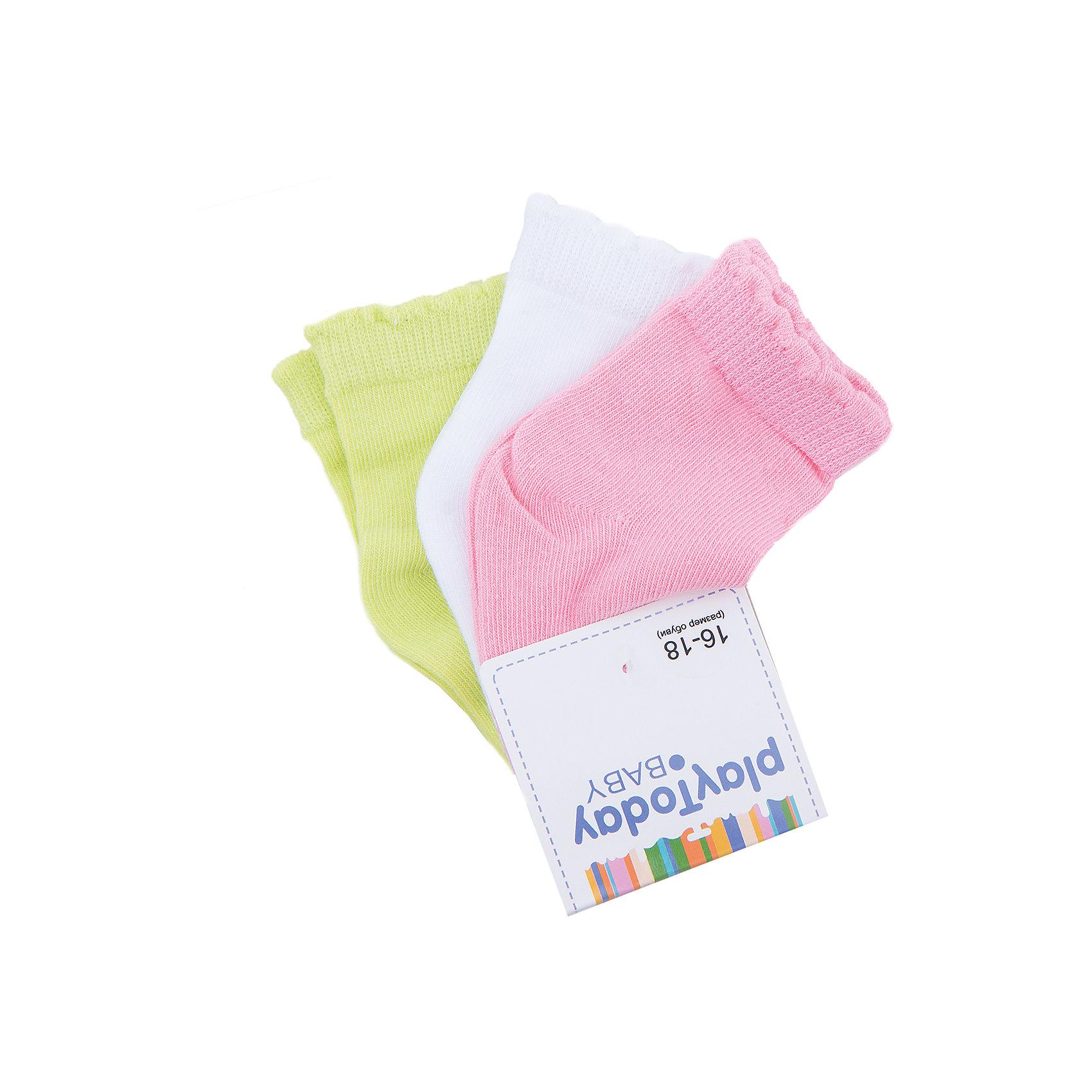 Носки, 3 пары для девочки PlayTodayНоски<br>Носки, 3 пары для девочки PlayToday<br>Носки очень мягкие, из качественных материалов, приятны к телу и не сковывают движений. Хорошо пропускают воздух, тем самым позволяя коже дышать.  Даже частые стирки, при условии соблюдений рекомендаций по уходу, не изменят ни форму, ни цвет изделий.Преимущества: Мягкие, выполненные из натуральных материалов, приятны к телу, не сковывают движенийХорошо пропускают воздух, позволяя тем самым коже дышатьДаже частые стирки, при условии соблюдений рекомендаций по уходу, не изменят ни форму, ни цвет изделия<br>Состав:<br>75% хлопок, 22% нейлон, 3% эластан<br><br>Ширина мм: 87<br>Глубина мм: 10<br>Высота мм: 105<br>Вес г: 115<br>Цвет: белый<br>Возраст от месяцев: 6<br>Возраст до месяцев: 9<br>Пол: Женский<br>Возраст: Детский<br>Размер: 11,12<br>SKU: 5408379