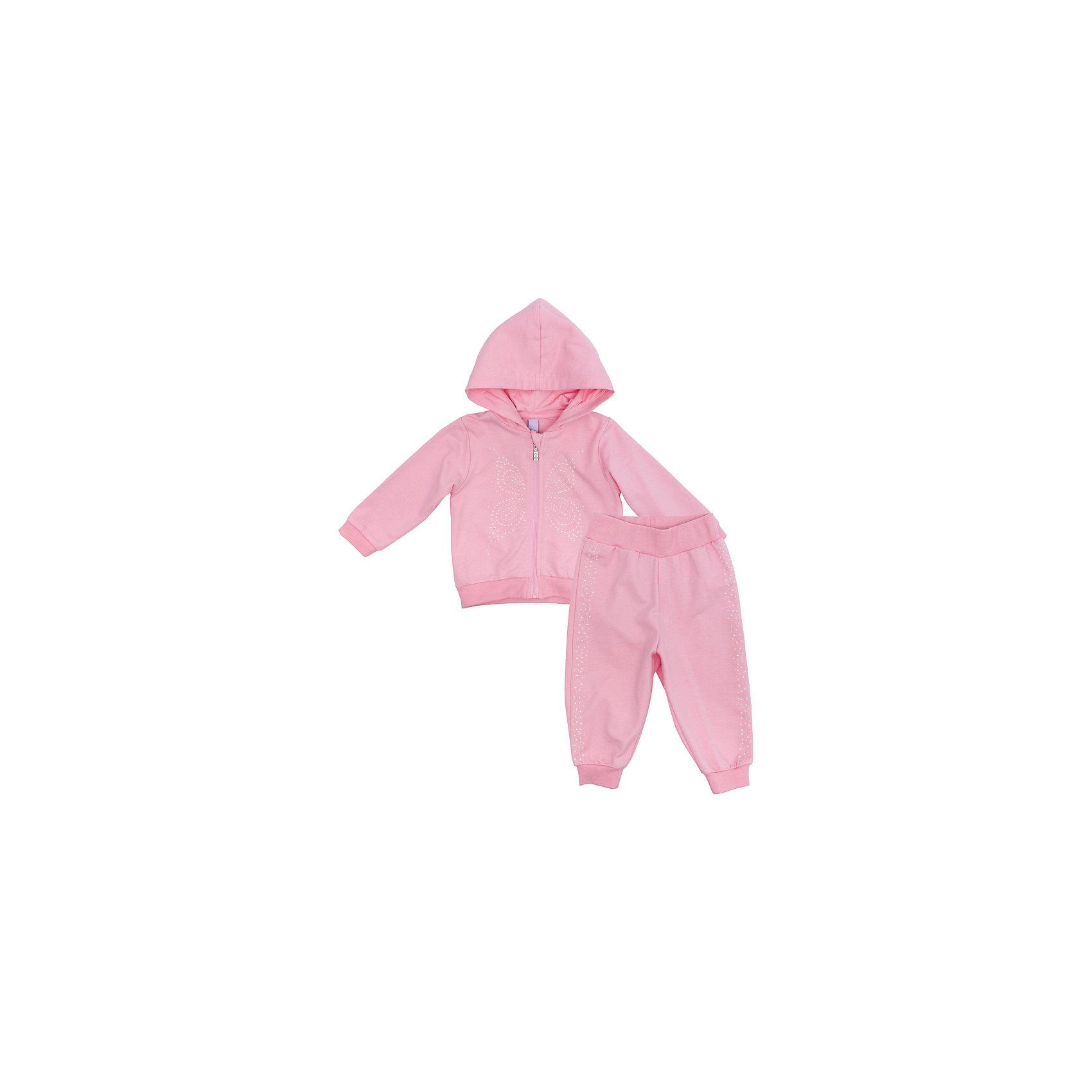Комплект для девочки PlayTodayКомплекты<br>Характеристики товара:<br><br>• цвет: розовый<br>• состав: 100% хлопок<br>• комплектация: кофточка, брюки<br>• дышащий материал<br>• длинные рукава<br>• молния для удобства надевания<br>• пояс брюк - мягкая резинка<br>• комфортная посадка<br>• коллекция: весна-лето 2017<br>• страна бренда: Германия<br>• страна производства: Китай<br><br>Популярный бренд PlayToday выпустил новую коллекцию! Вещи из неё продолжают радовать покупателей удобством, стильным дизайном и продуманным кроем. Дети носят их с удовольствием. PlayToday - это линейка товаров, созданная специально для детей. Дизайнеры учитывают новые веяния моды и потребности детей. Порадуйте ребенка обновкой от проверенного производителя!<br>Эта модель обеспечит ребенку комфорт благодаря качественному материалу и удобному крою. Отличный вариант детской одежды - она не трет и давит, не ограничивает свободу движений! Выглядит стильно и аккуратно.<br><br>Комплект для девочки от известного бренда PlayToday можно купить в нашем интернет-магазине.<br><br>Ширина мм: 157<br>Глубина мм: 13<br>Высота мм: 119<br>Вес г: 200<br>Цвет: светло-розовый<br>Возраст от месяцев: 0<br>Возраст до месяцев: 3<br>Пол: Женский<br>Возраст: Детский<br>Размер: 56,74,68,62<br>SKU: 5408470