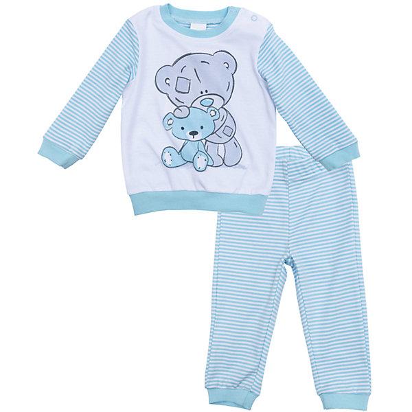 Пижама для мальчика PlayTodayПижамы<br>Характеристики товара:<br><br>• цвет: голубой<br>• состав: 100% хлопок<br>• комплектация: кофточка, брюки<br>• дышащий материал<br>• длинные рукава<br>• кнопки для удобства надевания<br>• пояс брюк - мягкая резинка<br>• комфортная посадка<br>• коллекция: весна-лето 2017<br>• страна бренда: Германия<br>• страна производства: Китай<br><br>Популярный бренд PlayToday выпустил новую коллекцию! Вещи из неё продолжают радовать покупателей удобством, стильным дизайном и продуманным кроем. Дети носят их с удовольствием. PlayToday - это линейка товаров, созданная специально для детей. Дизайнеры учитывают новые веяния моды и потребности детей. Порадуйте ребенка обновкой от проверенного производителя!<br>Эта модель обеспечит ребенку комфорт благодаря качественному материалу и удобному крою. Отличный вариант детской одежды - она не трет и давит, не ограничивает свободу движений! Выглядит стильно и аккуратно.<br><br>Комплект для мальчика от известного бренда PlayToday можно купить в нашем интернет-магазине.<br><br>Ширина мм: 157<br>Глубина мм: 13<br>Высота мм: 119<br>Вес г: 200<br>Цвет: белый<br>Возраст от месяцев: 0<br>Возраст до месяцев: 3<br>Пол: Мужской<br>Возраст: Детский<br>Размер: 68,56,74,62<br>SKU: 5408551